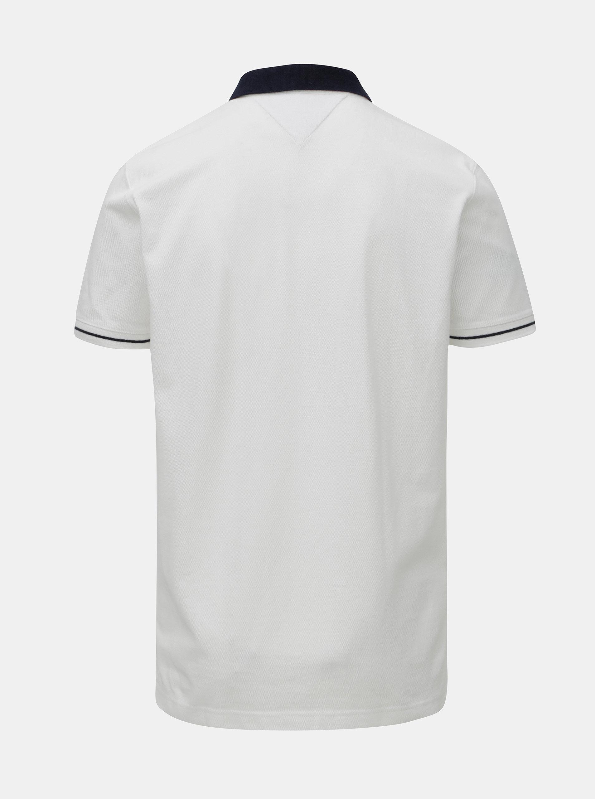 Bílé pánské regular fit polo tričko Tommy Hilfiger ... 3d6d34a7ac