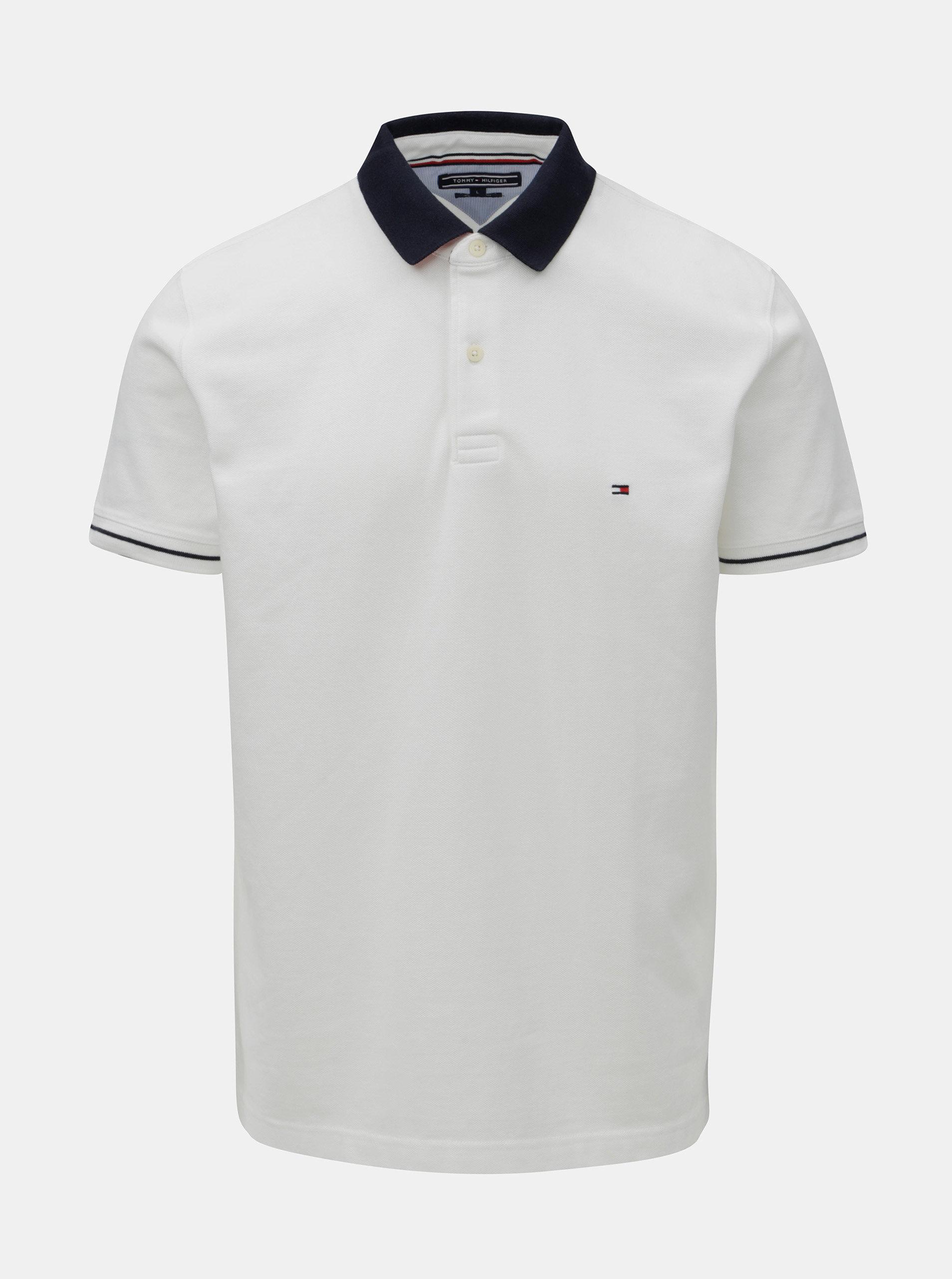 Bílé pánské regular fit polo tričko Tommy Hilfiger ... e2d71bdd45f