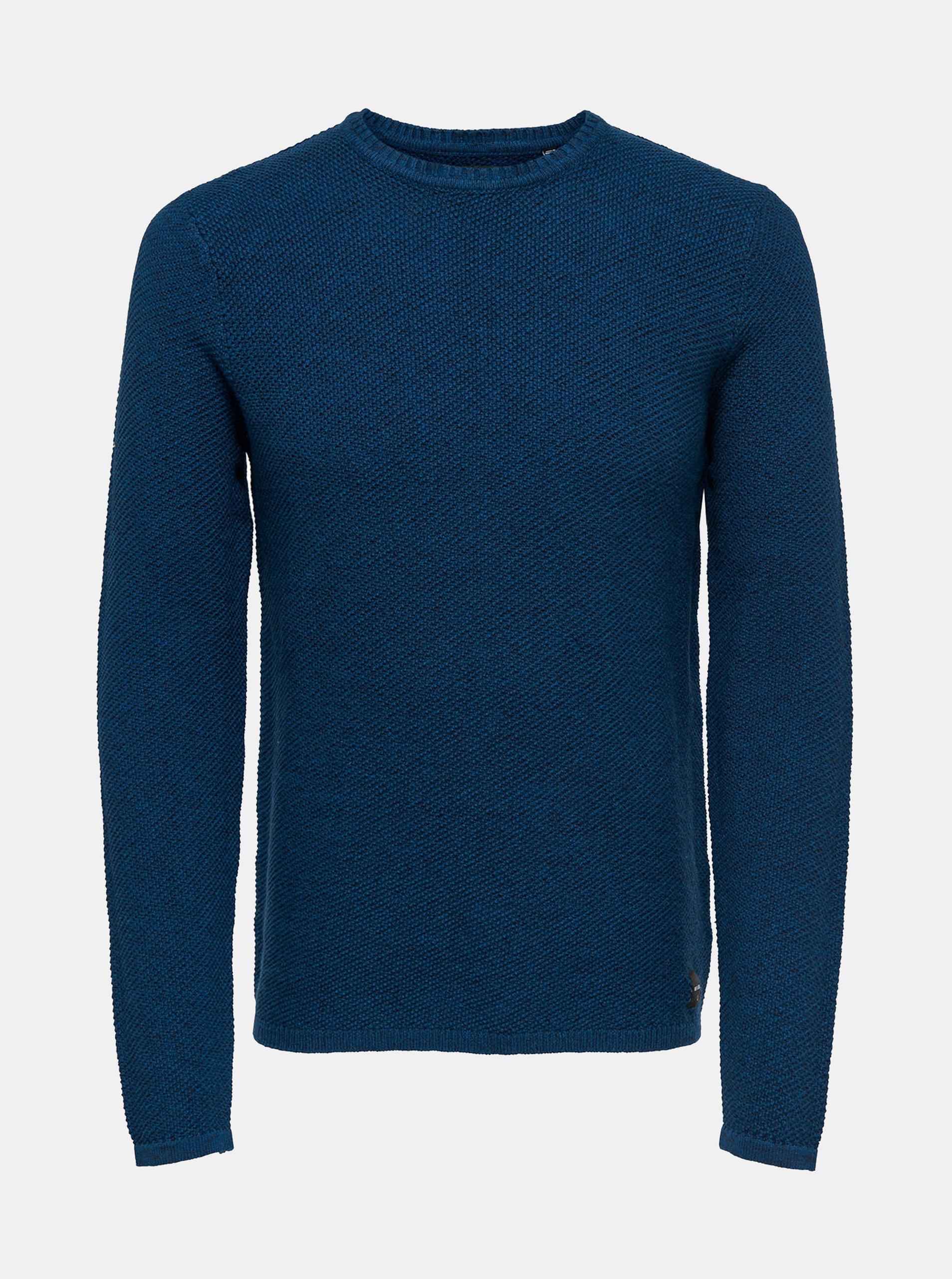 Modrý svetr ONLY & SONS Dan 7