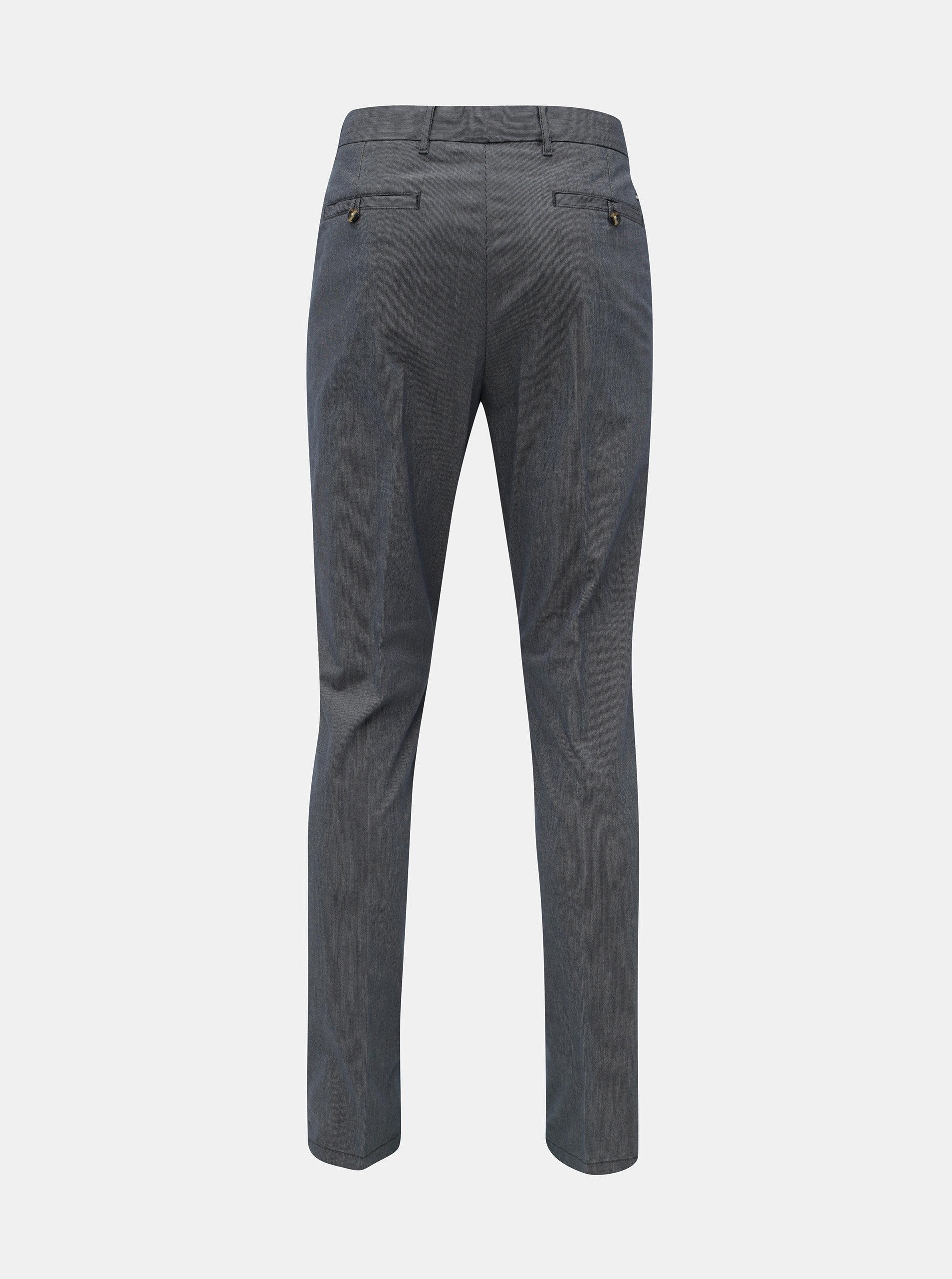 86b720e97620 Modré pánske vzorované straight fit chino nohavice Tommy Hilfiger ...