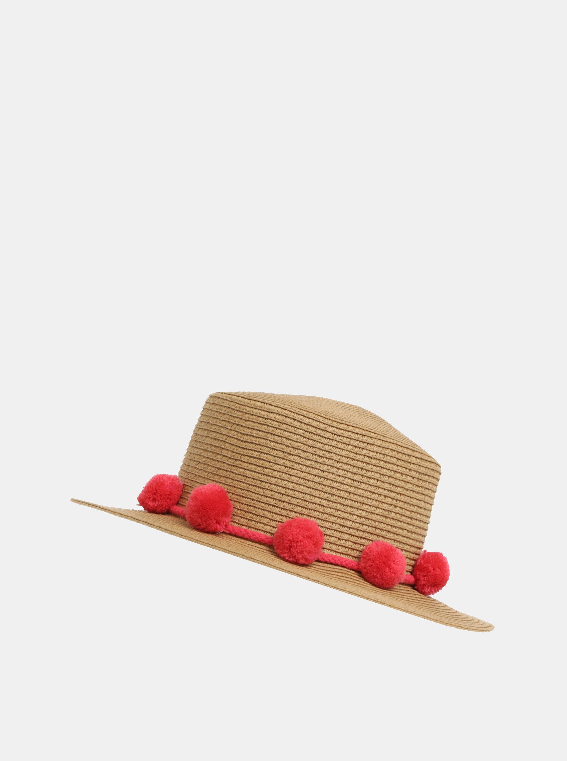 424fe7631 Béžový klobúk s brmbolcami Pieces Isa   ZOOT.sk