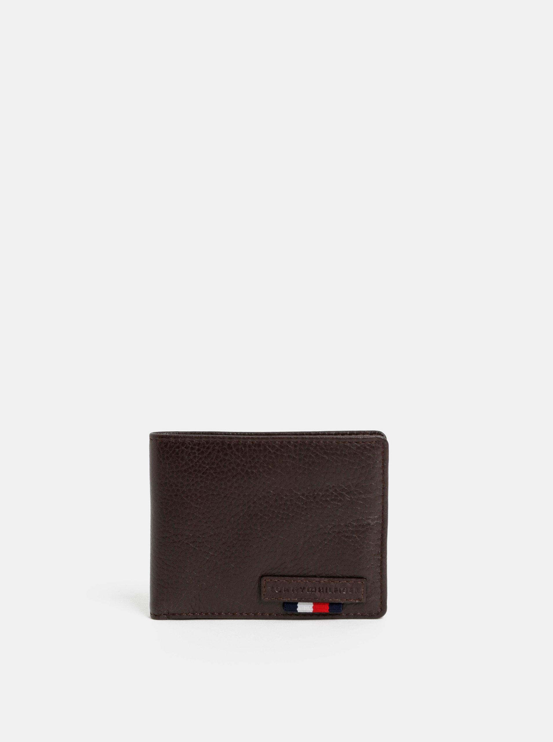 Hnědá kožená peněženka Tommy Hilfiger