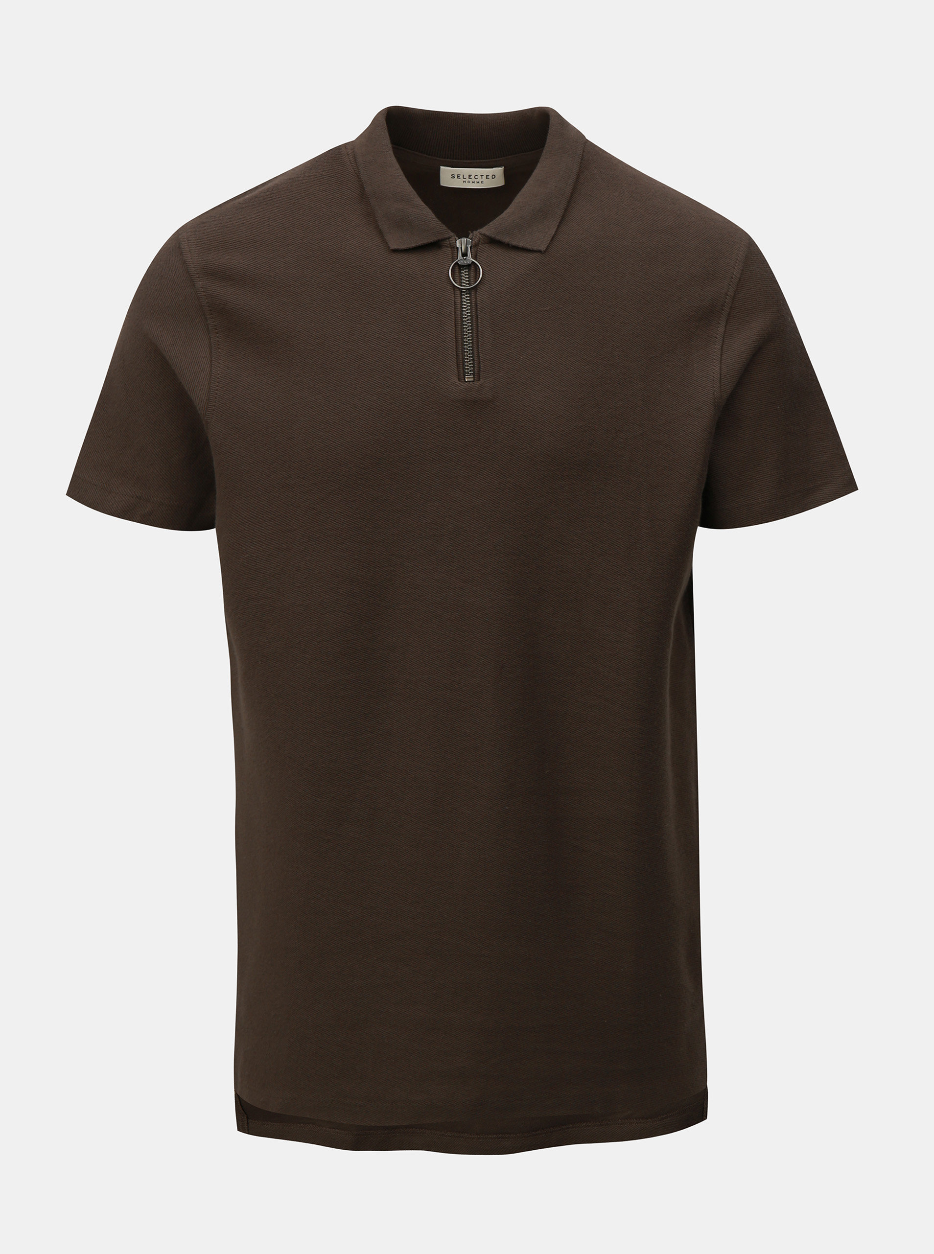 Khaki polo tričko Selected Homme