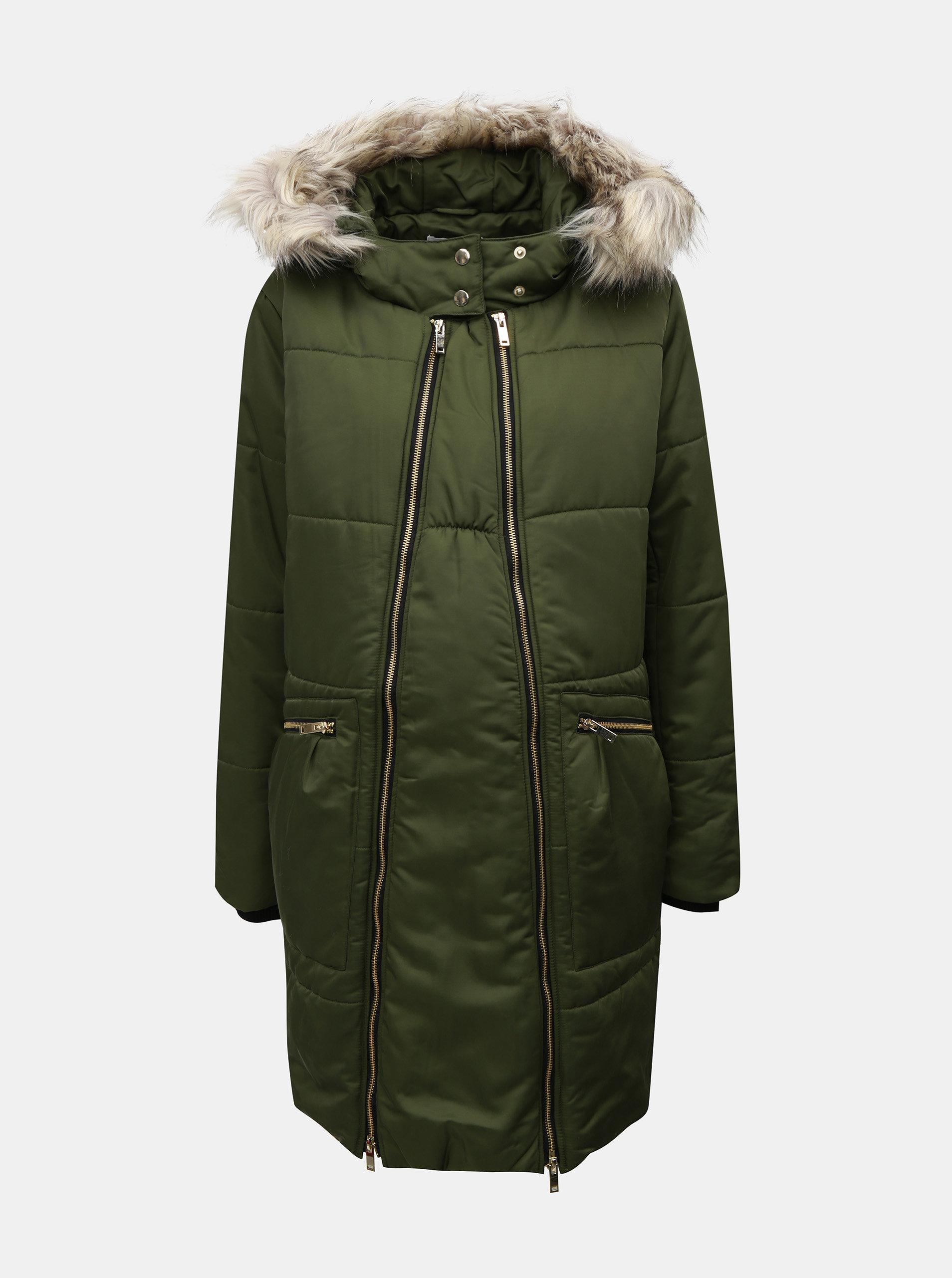 Zelená prešívaná zimná tehotenská bunda Mama.licious ... b7a5cf11a55