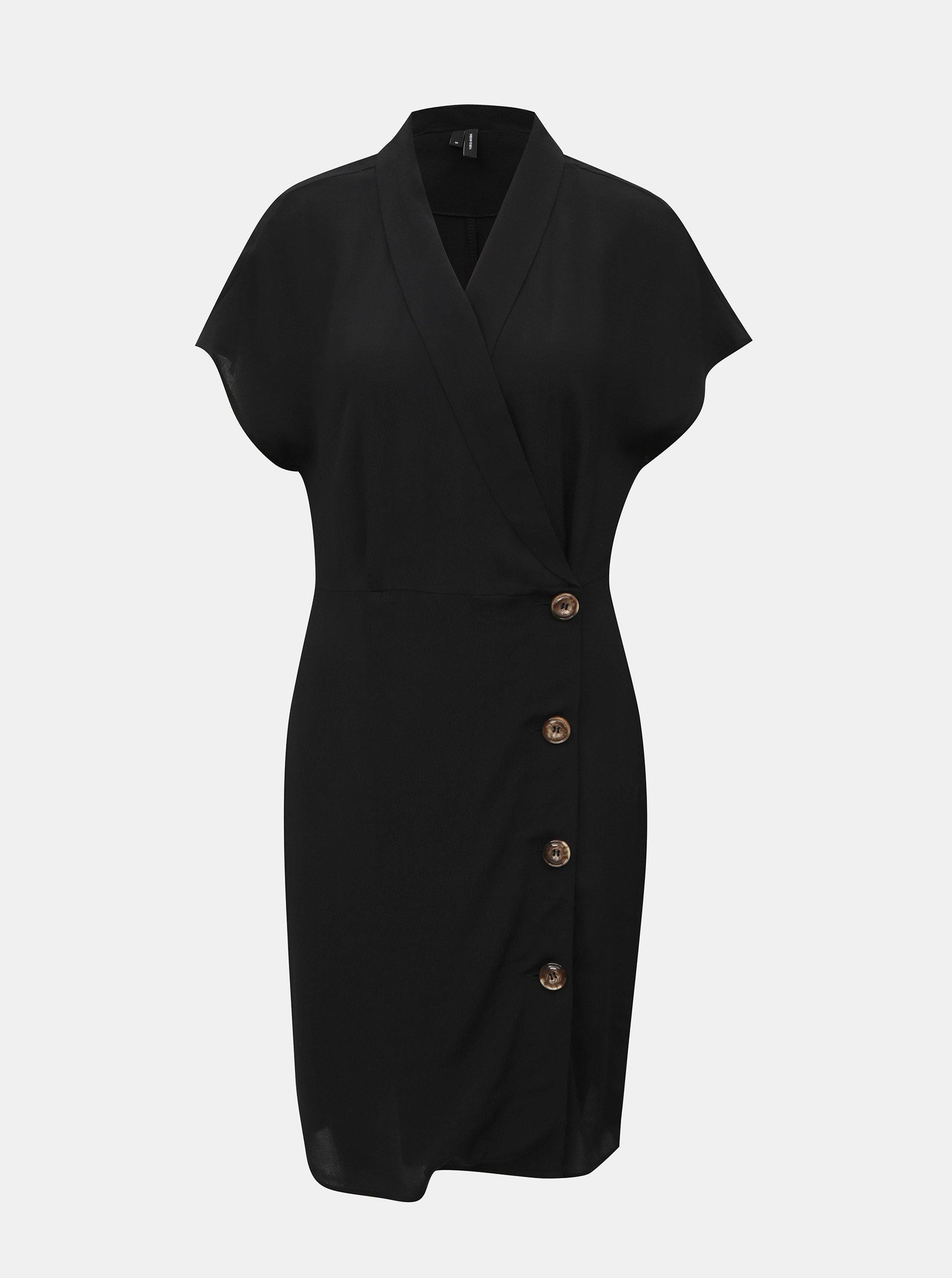 Černé košilové šaty VERO MODA Riga