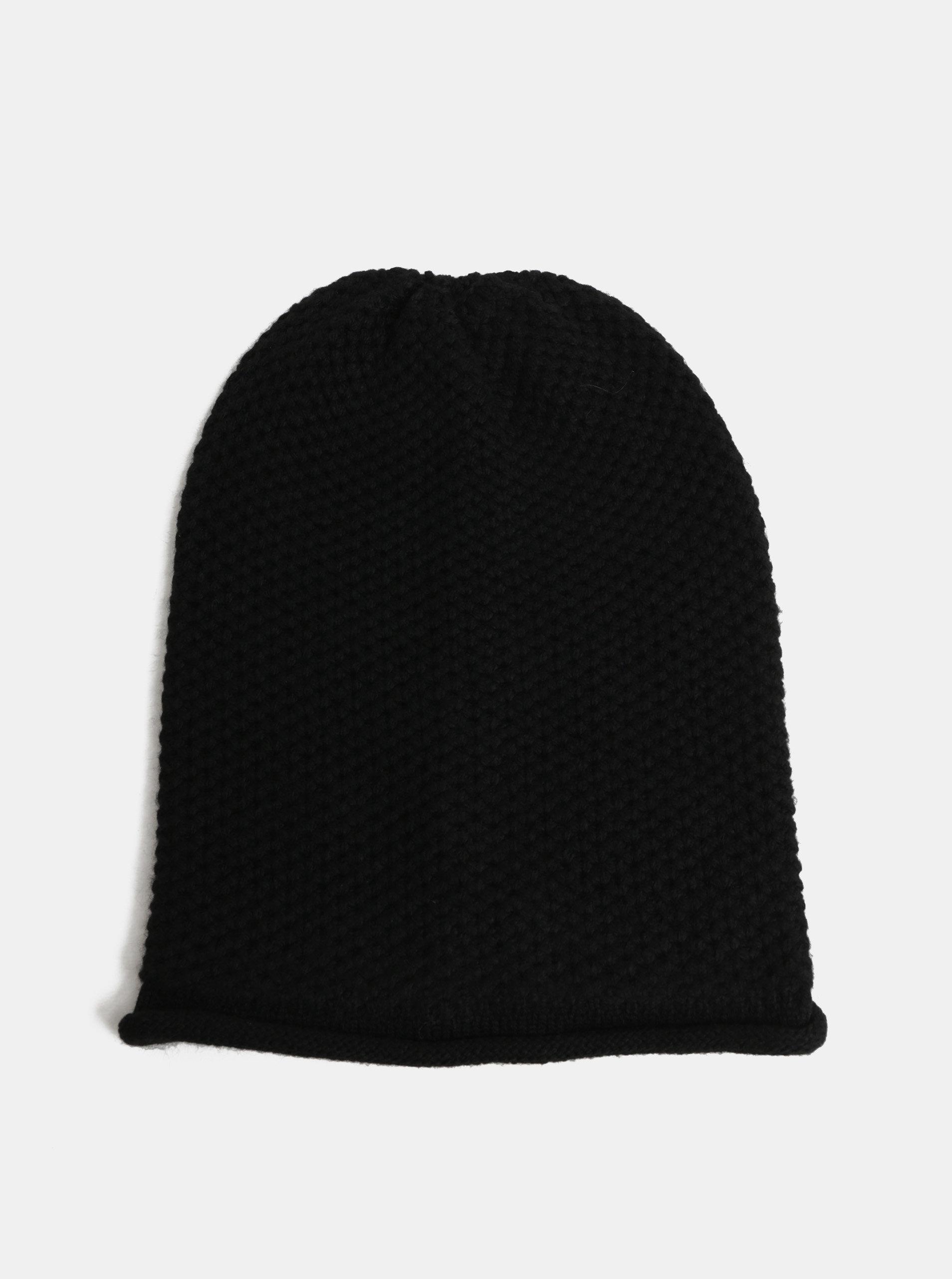 bc1a5d460c6 Černá pletená čepice Pieces Fahia Hood ...