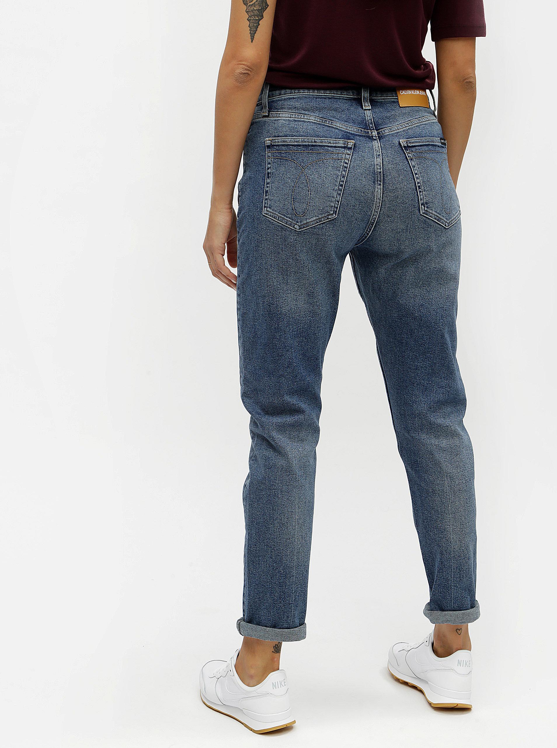 Modré dámské skinny džíny s vysokým pasem Calvin Klein Jeans ... 54c264705f