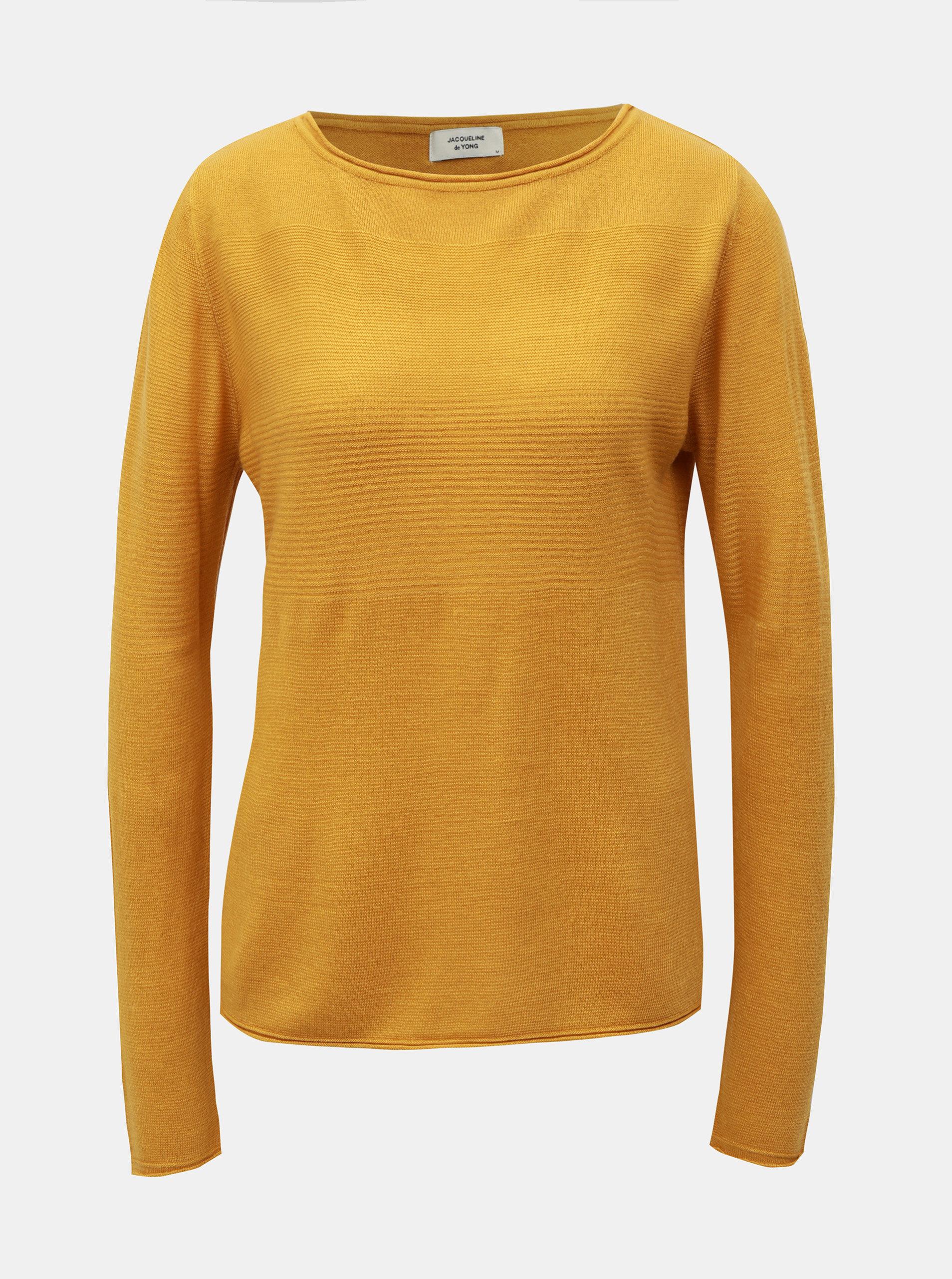 Hořčicový svetr Jacqueline de Yong