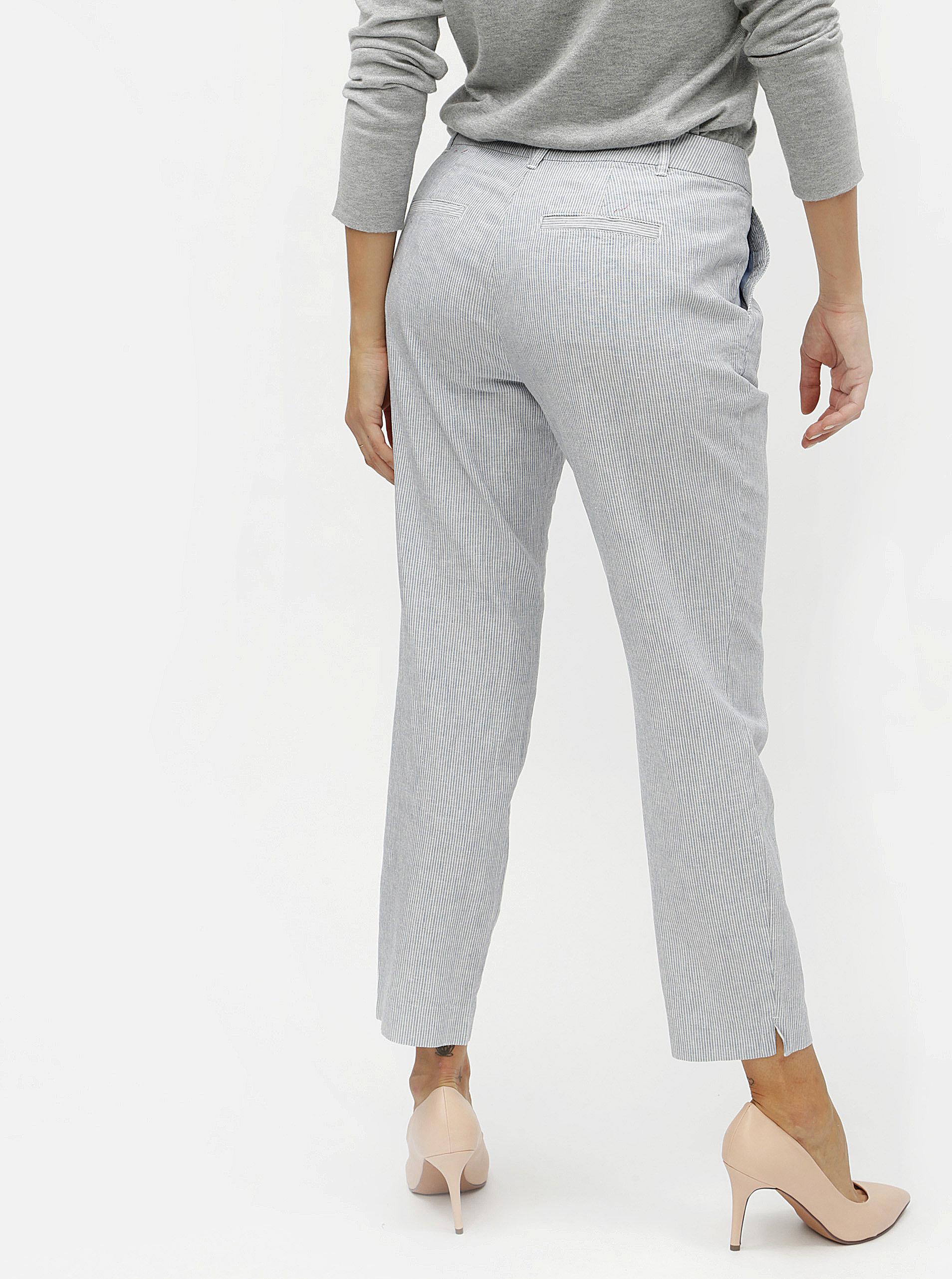 ca071840c Modré dámske ľanové slim fit chino nohavice s.Oliver | ZOOT.sk