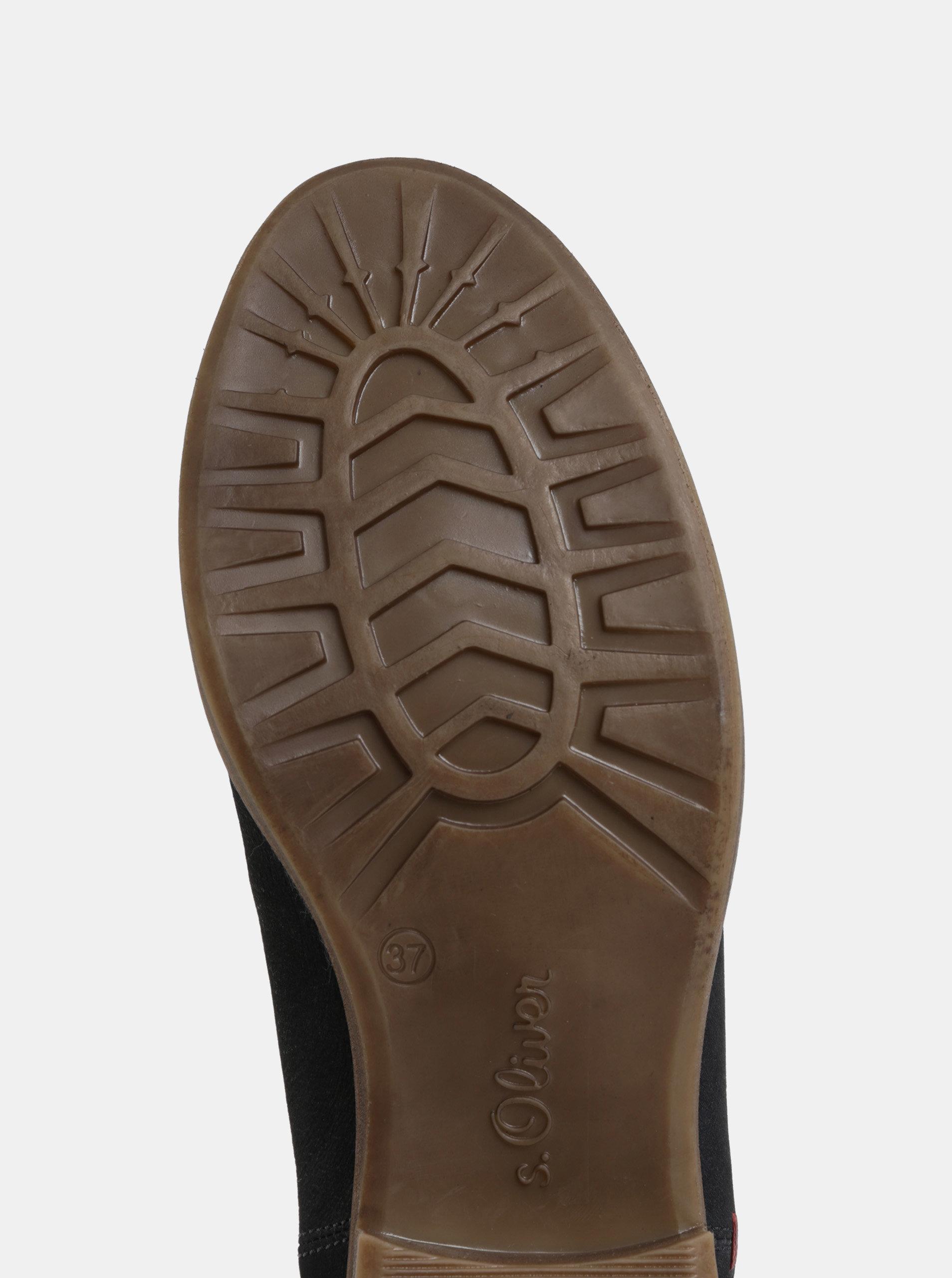 ea8e9722a40 Tmavě modré kožené chelsea boty s.Oliver ...