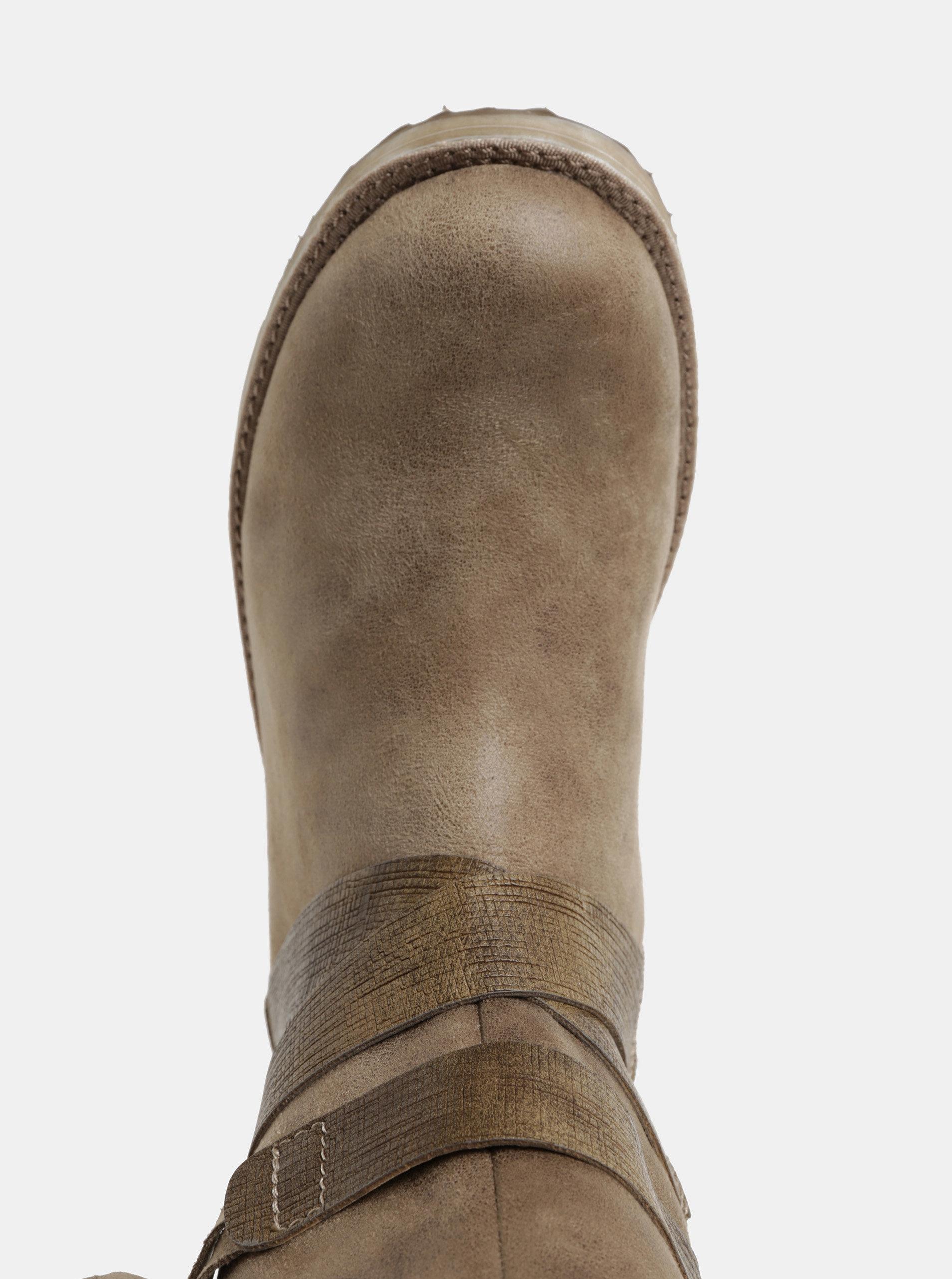 Béžové dámske zimné čižmy s umelou kožušinkou s.Oliver ... ffa6579b396