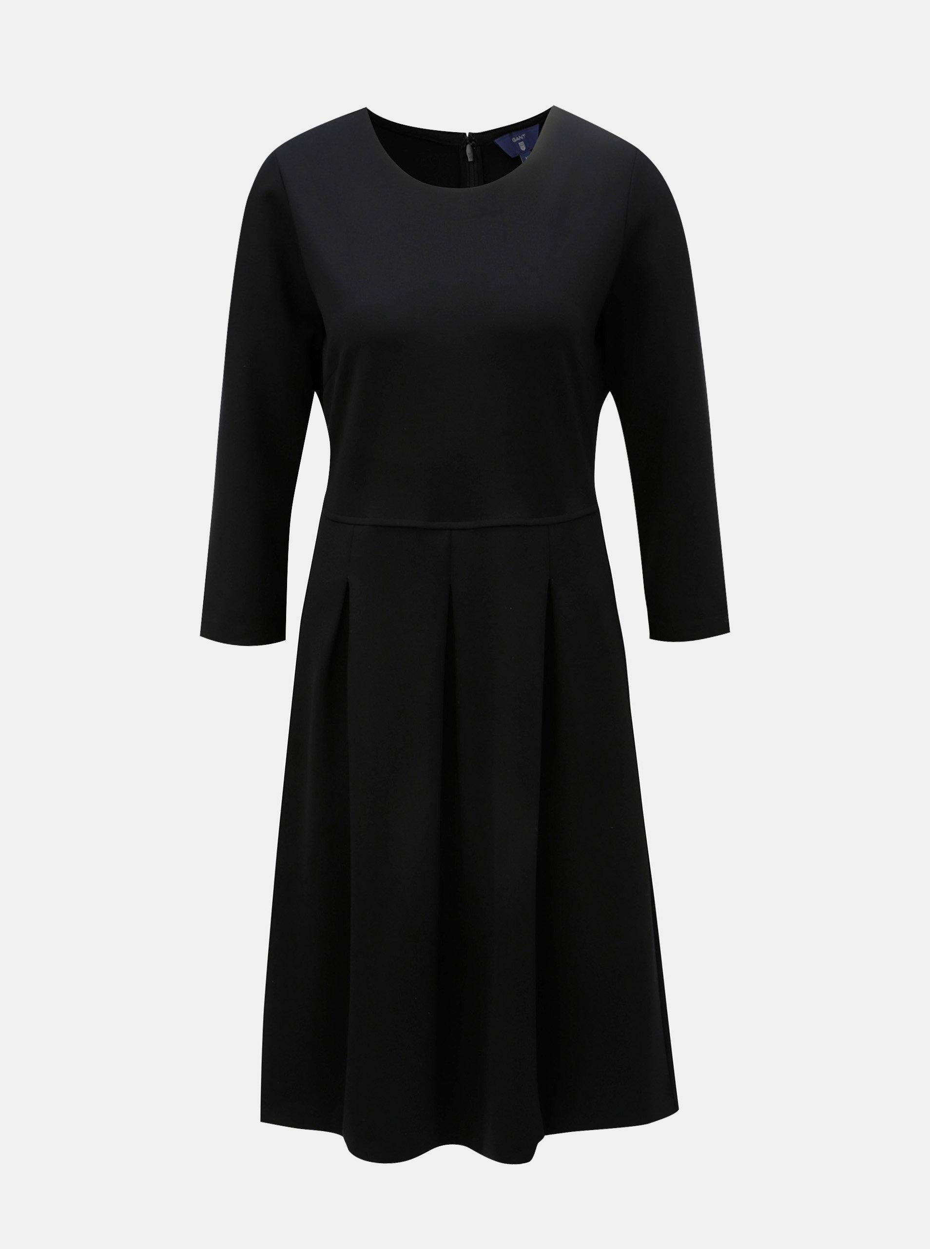63e9c52be1c9 Čierne áčkové šaty s 3 4 rukávom GANT ...