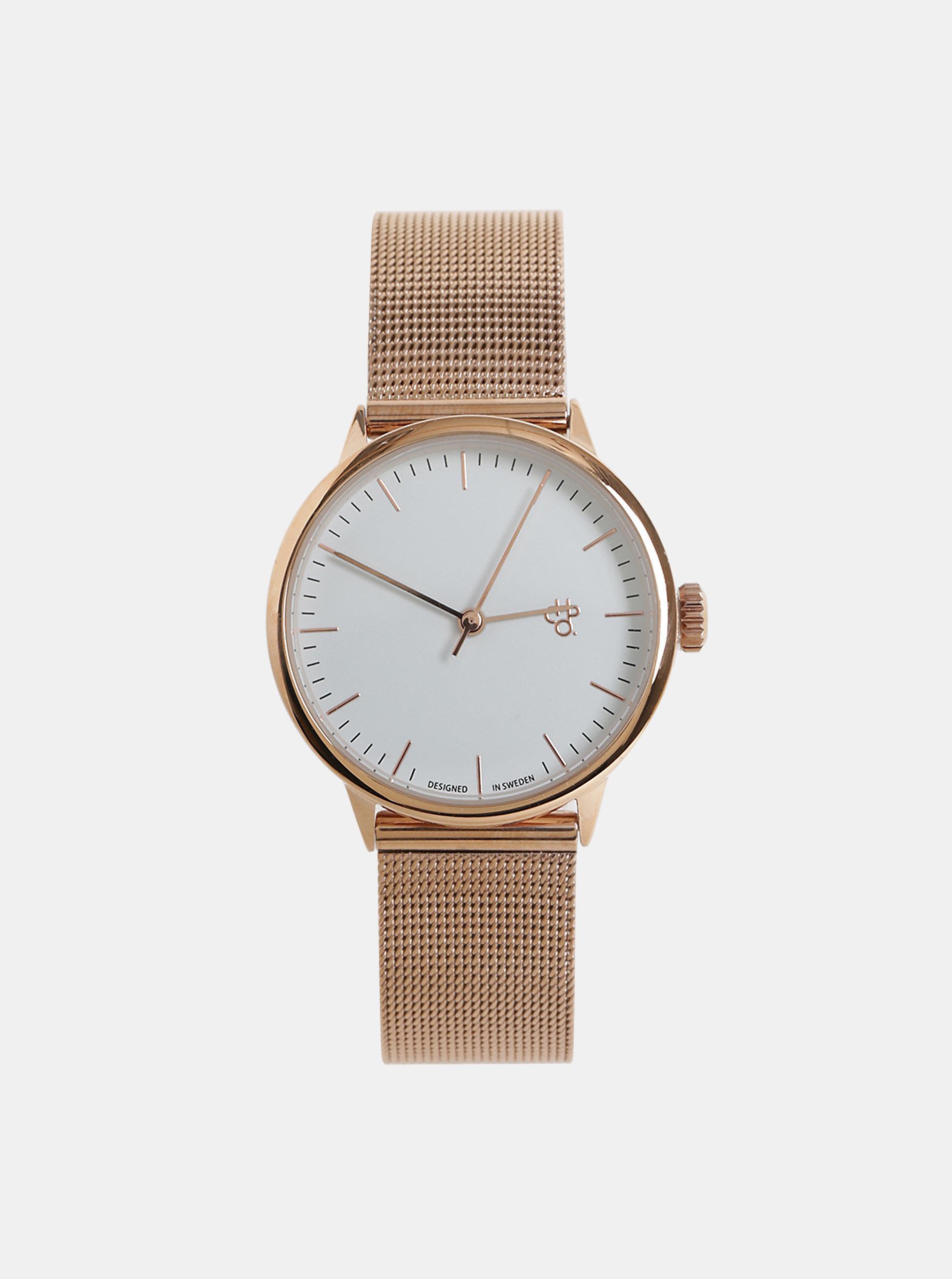 Dámské hodinky s kovovým páskem v růžovozlaté barvě CHPO Nando Mini Rose ... 59c1b36fbe