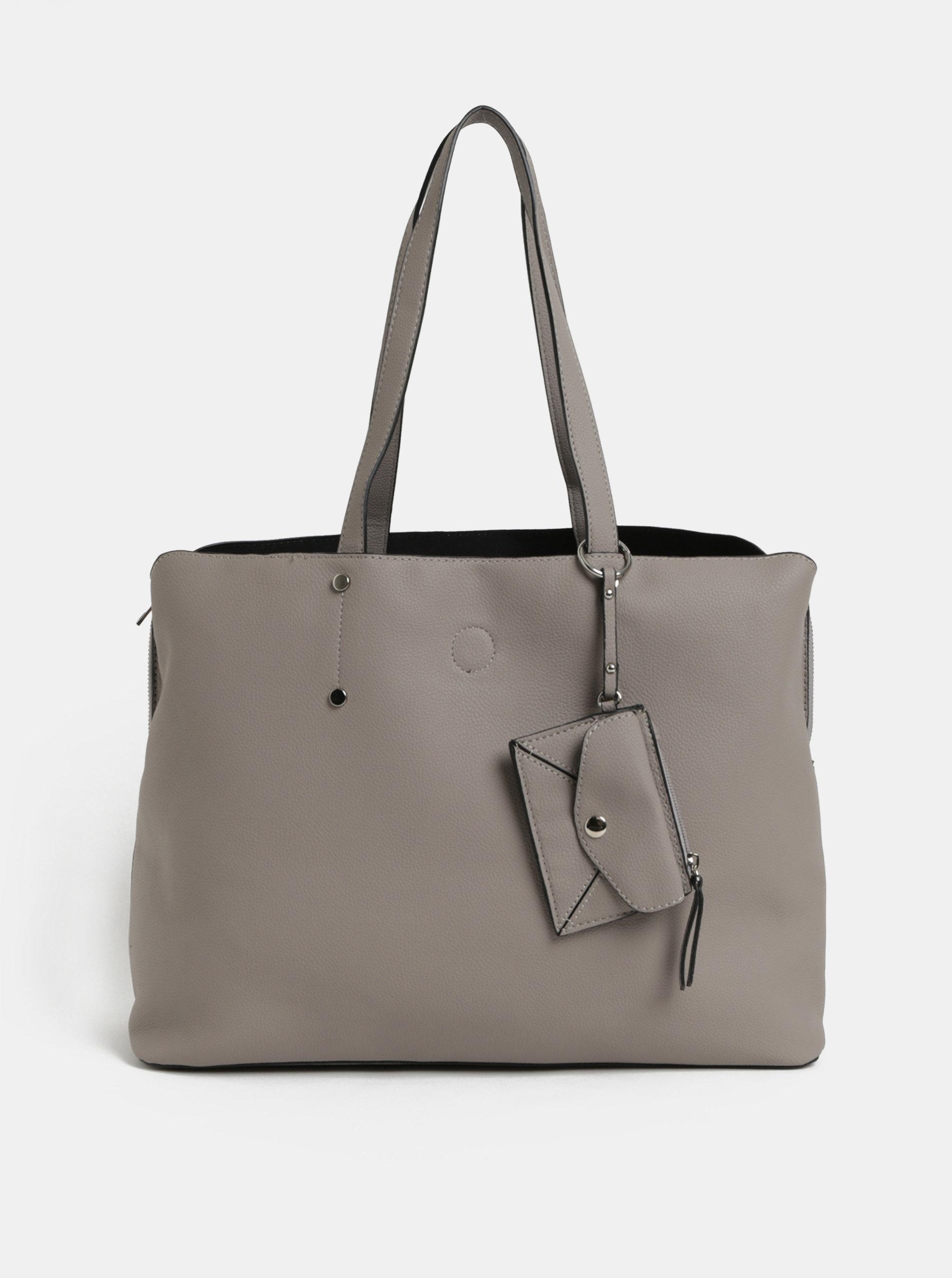 Šedá taška s kapsou na notebook a odnímatelným pouzdrem 2v1 Dorothy Perkins