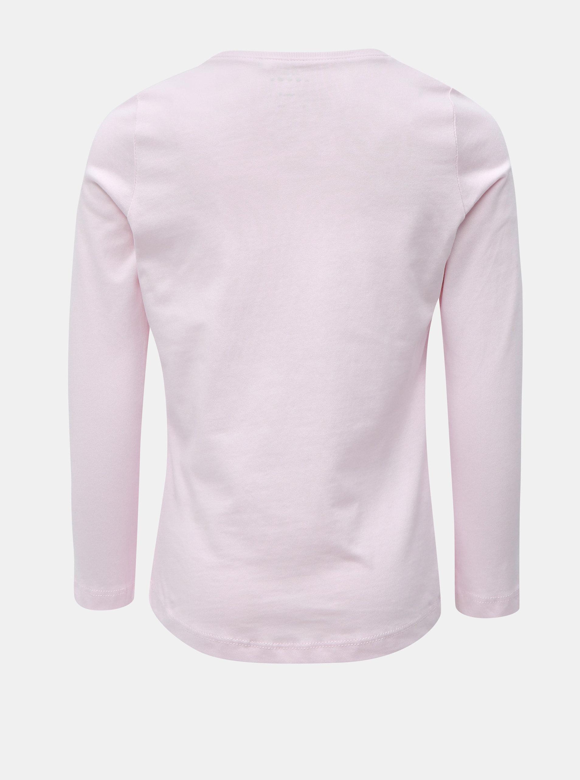 3583c7c0d054 Ružové dievčenské tričko s dlhým rukávom Name it ...