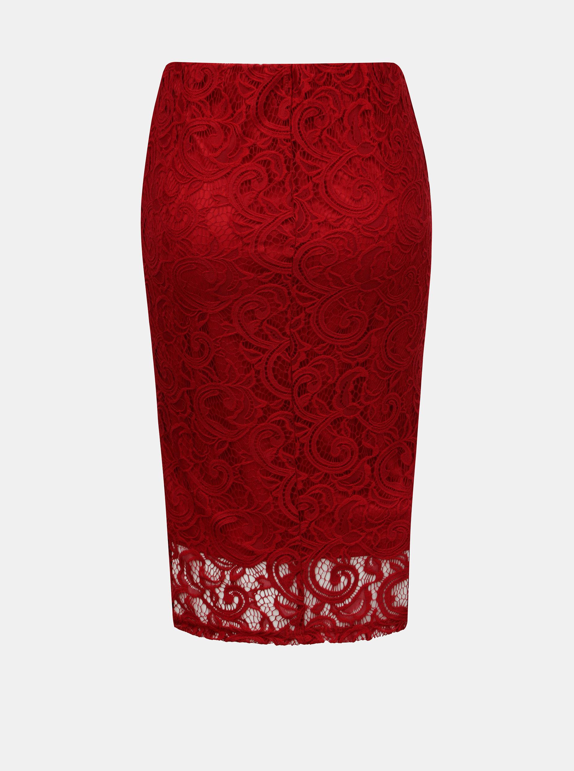 70bed61b2ae0 Červená čipkovaná sukňa Dorothy Perkins ...