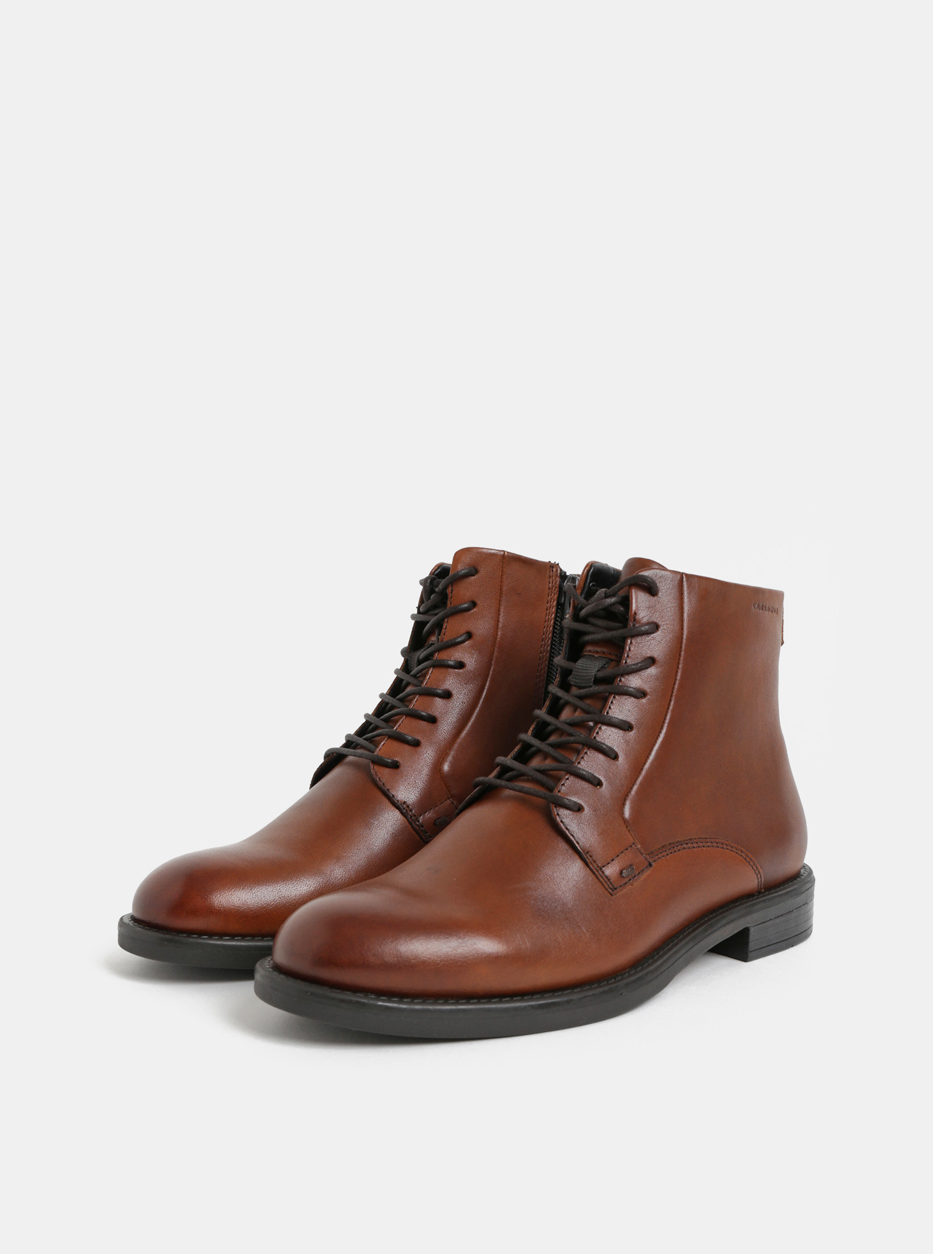 c851164dd89 Hnědé dámské kožené kotníkové boty Vagabond Amina ...