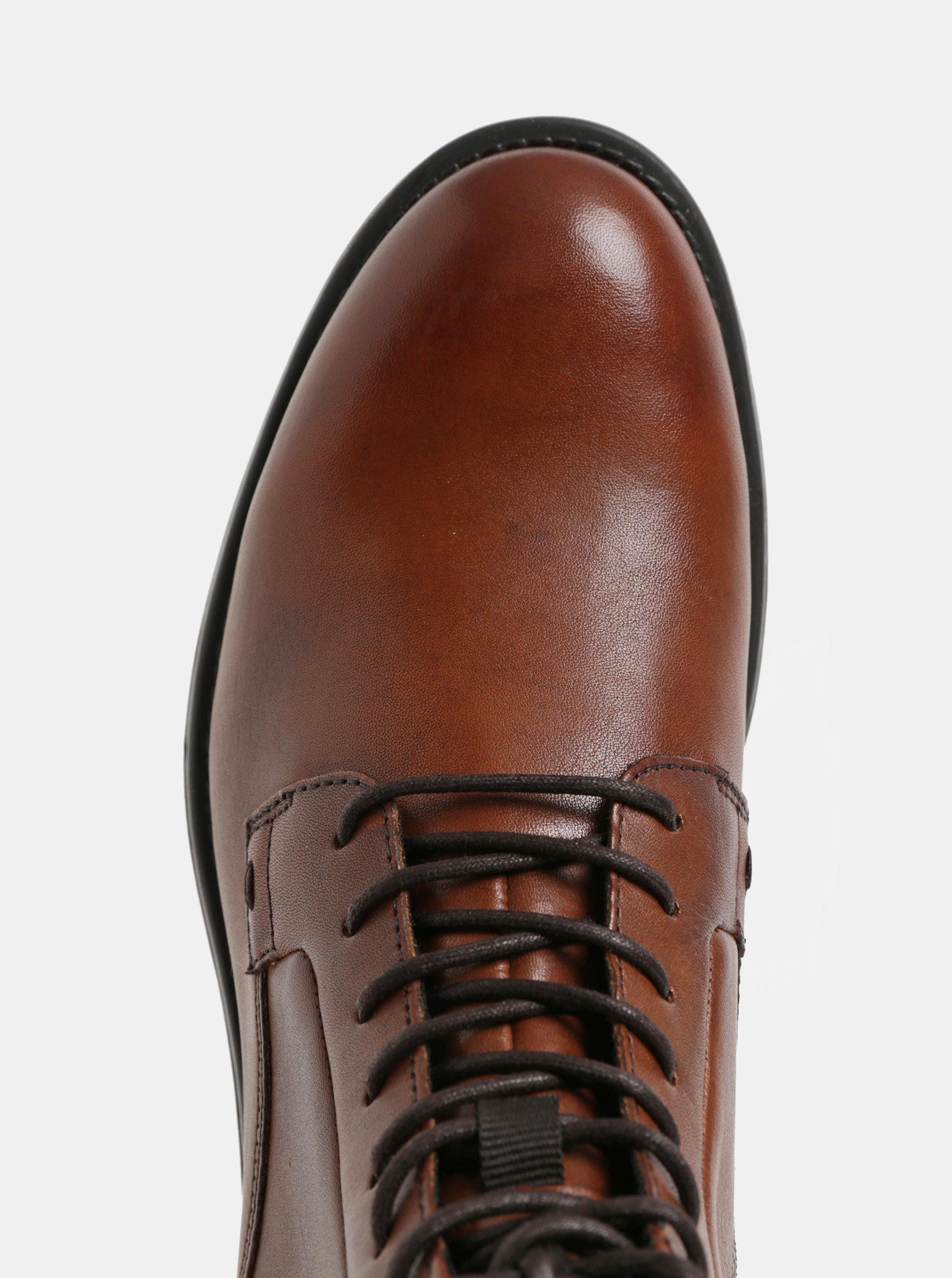 eefc56f051 Hnědé dámské kožené kotníkové boty Vagabond Amina ...