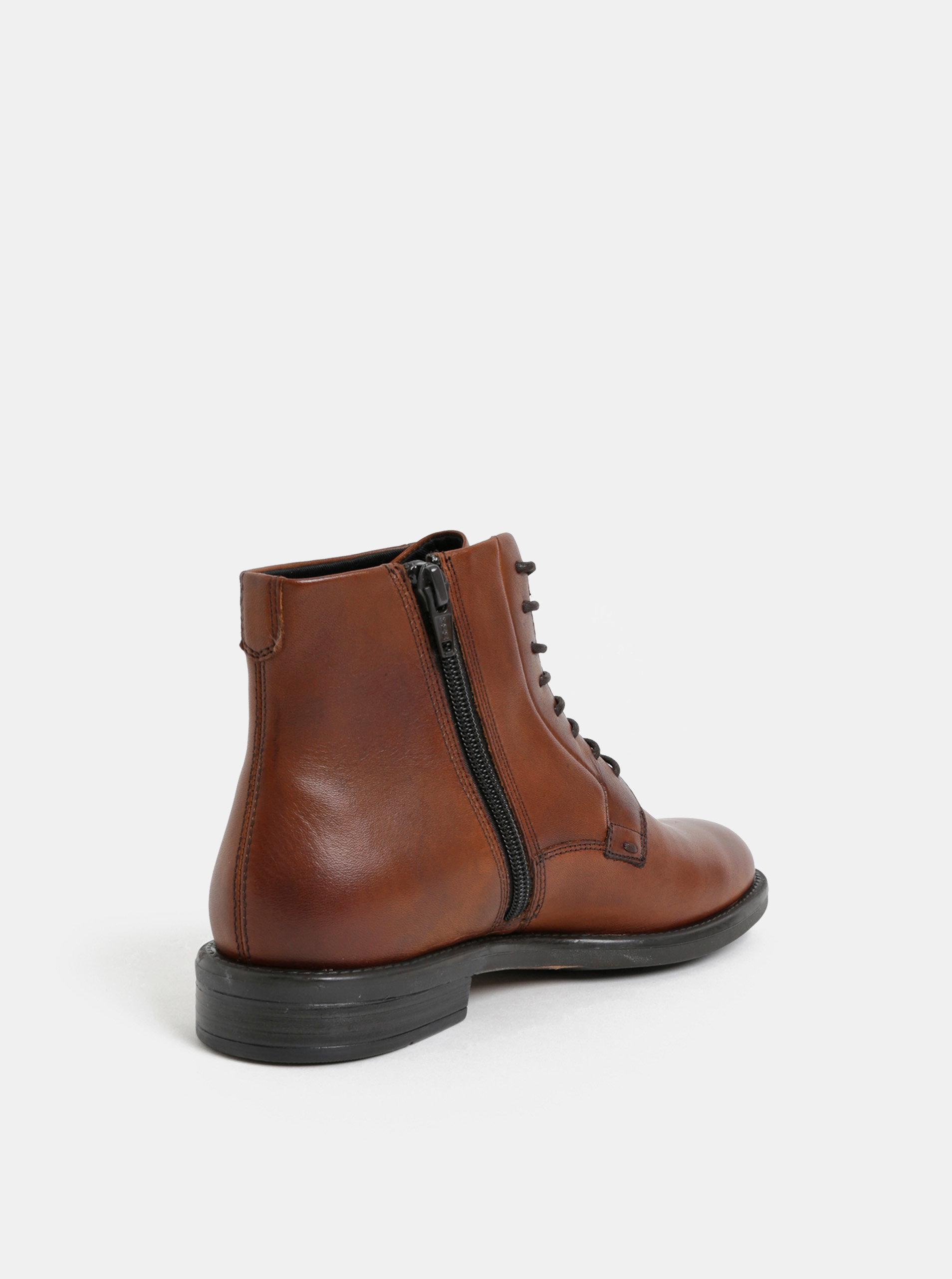 2a04c13788 Hnedé dámske kožené členkové topánky Vagabond Amina ...