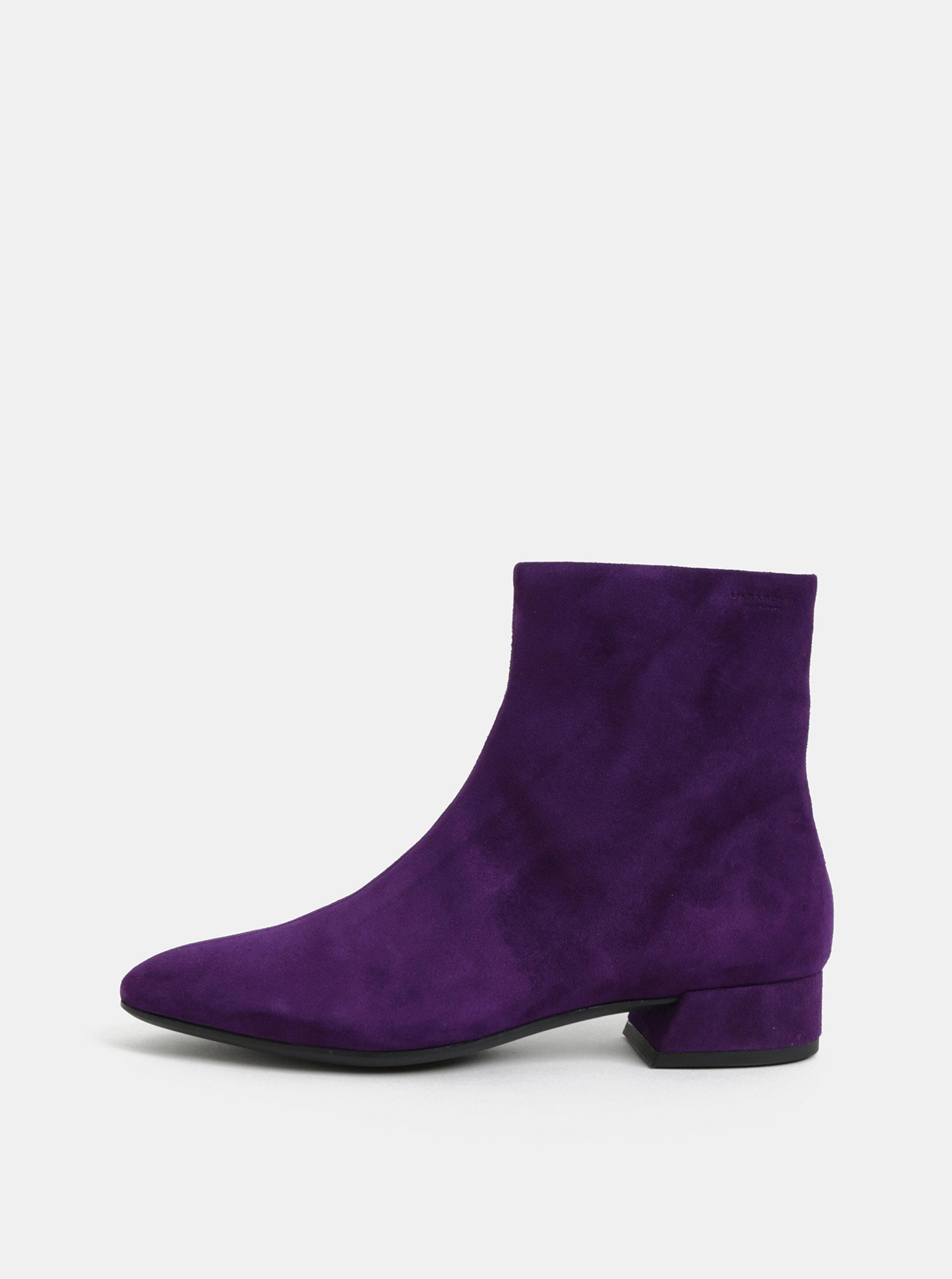 Fialové dámské semišové kotníkové boty Vagabond Joyce ... ff22e477c1