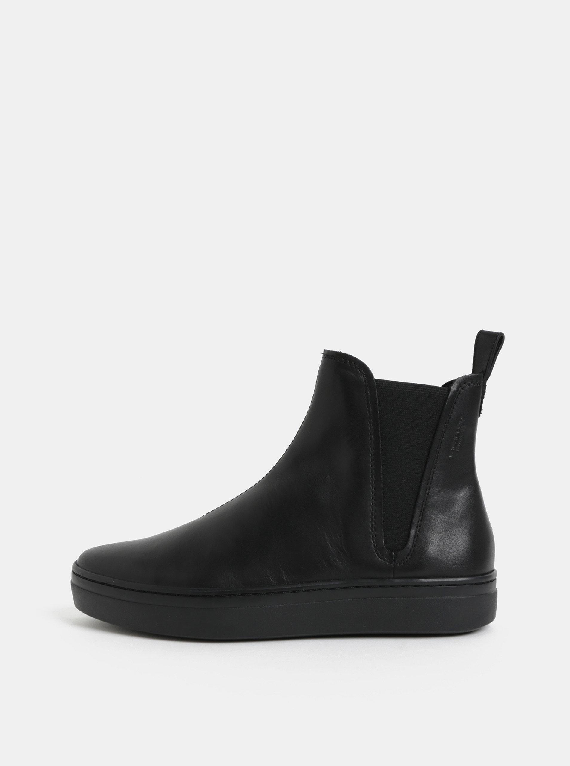 Černé dámské kožené chelsea boty Vagabond Camille