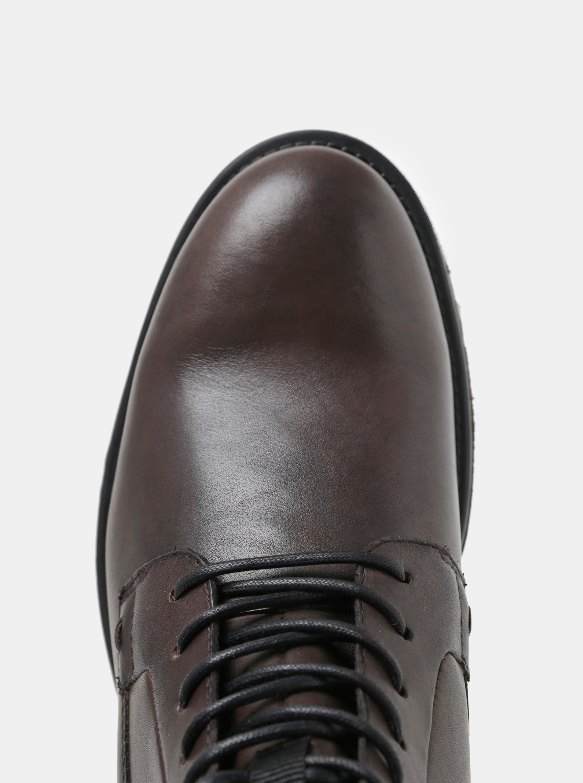 c6f3e571322 Tmavě hnědé dámské kožené kotníkové boty Vagabond Amina ...