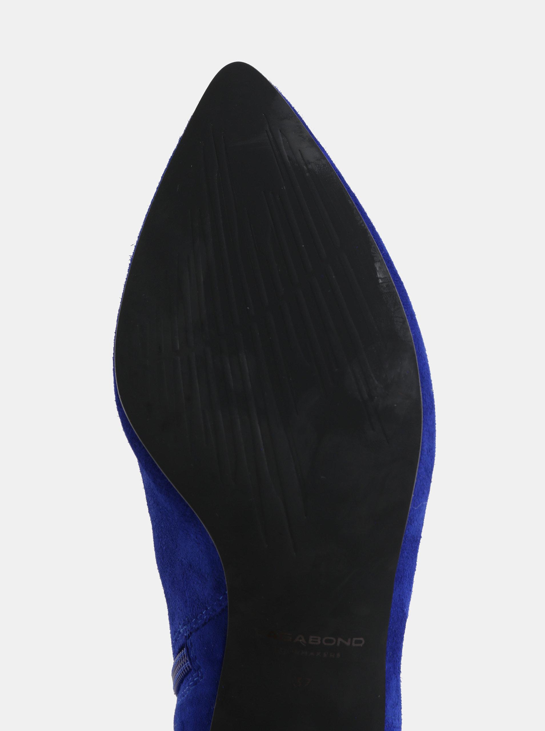 e3ee3936ff Modré dámske semišové členkové topánky Vagabond Minna ...