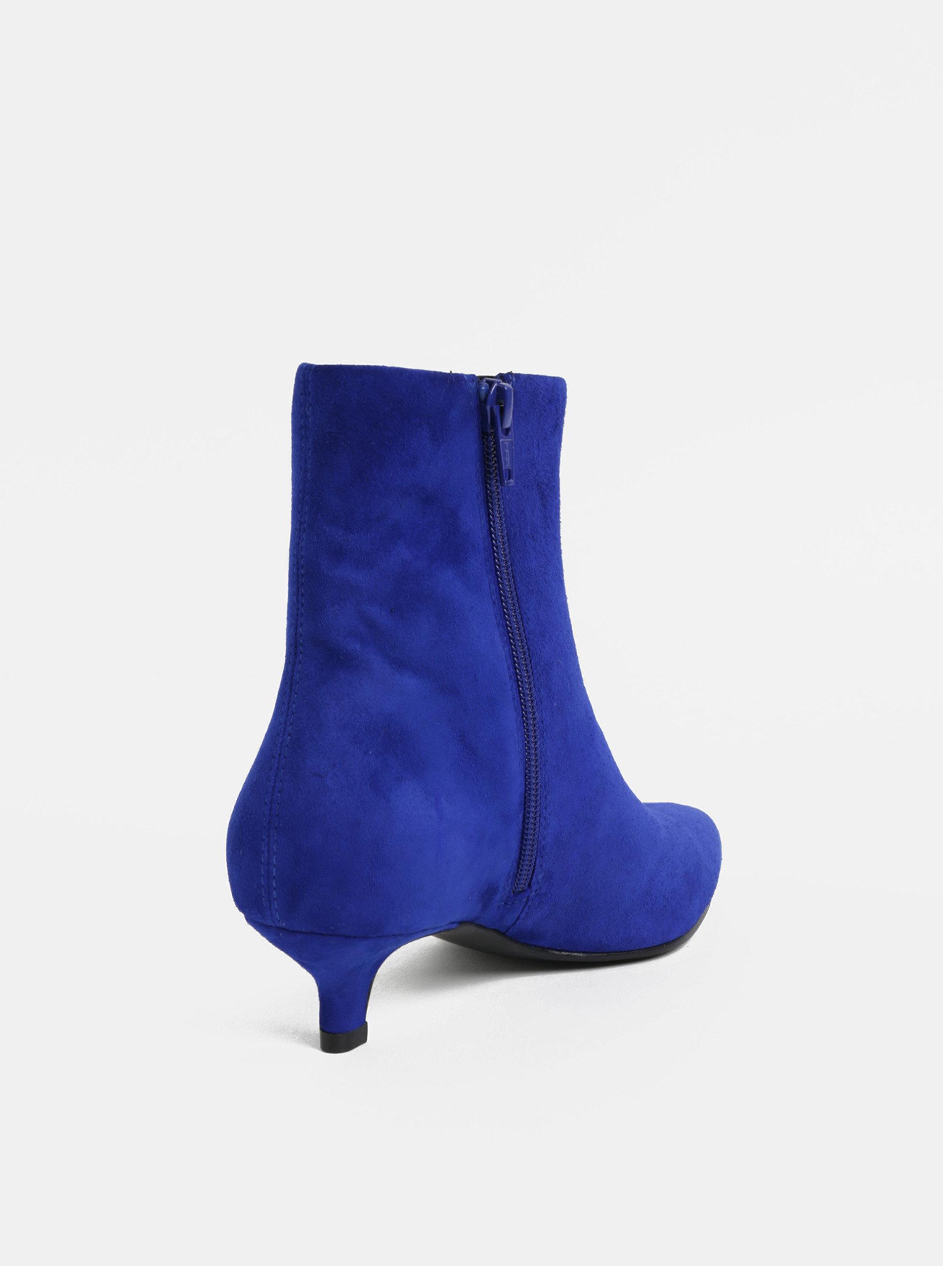 6693316785b9 Modré dámske semišové členkové topánky Vagabond Minna ...