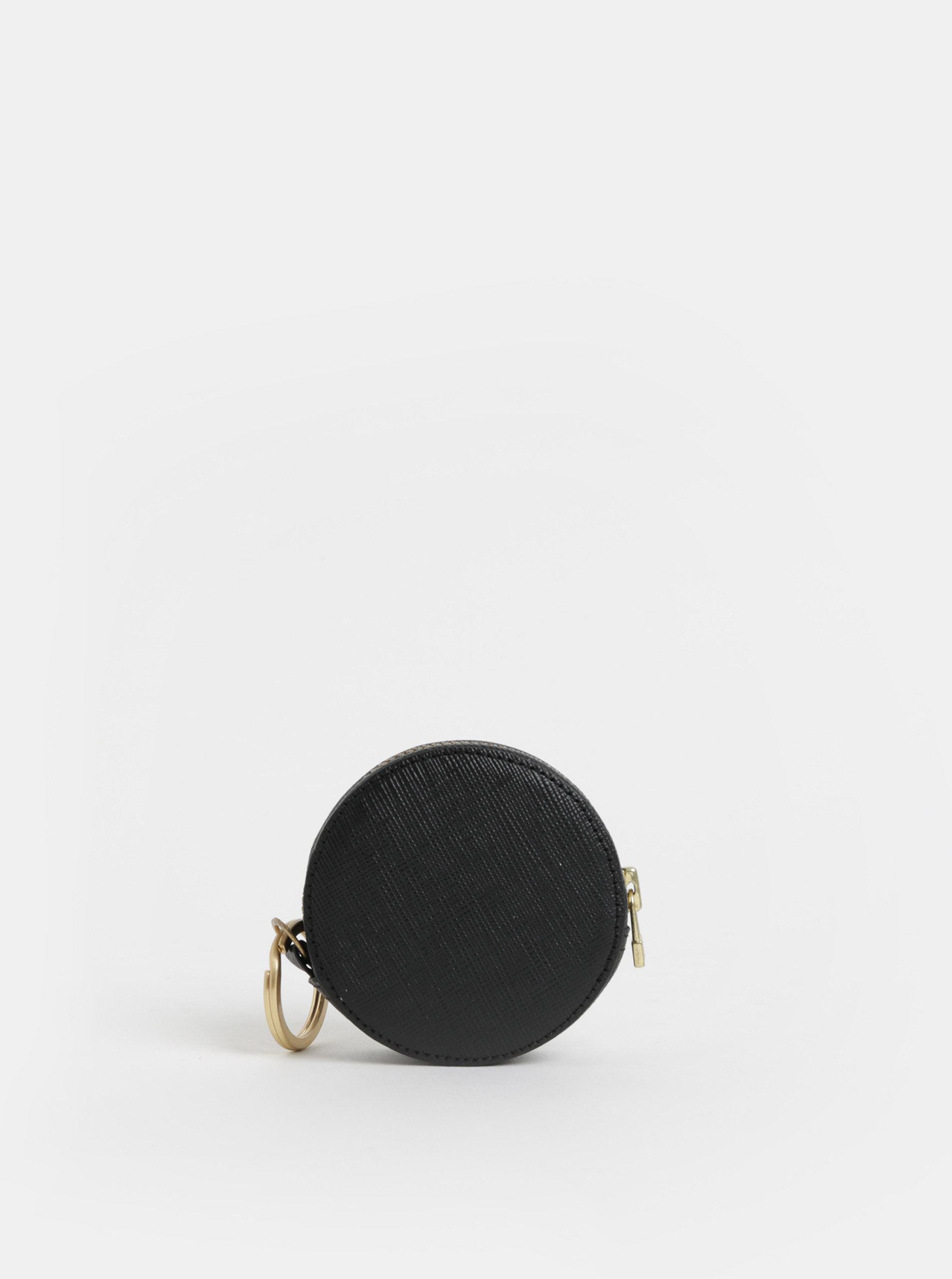 Černá kožená peněženka na mince Vagabond Randers