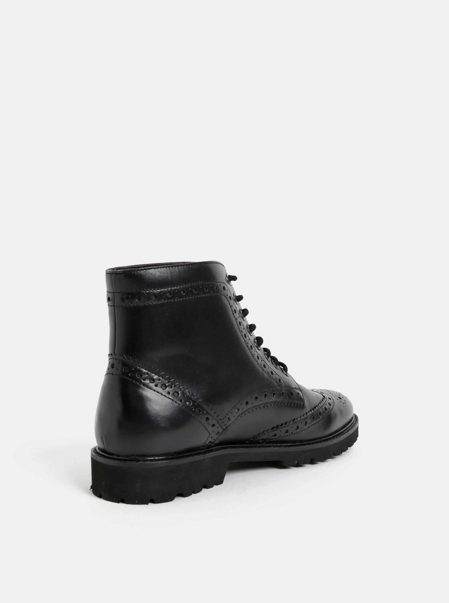 a94c7c839e056 Černé pánské kožené kotníkové brogue boty London Brogues | ZOOT.cz