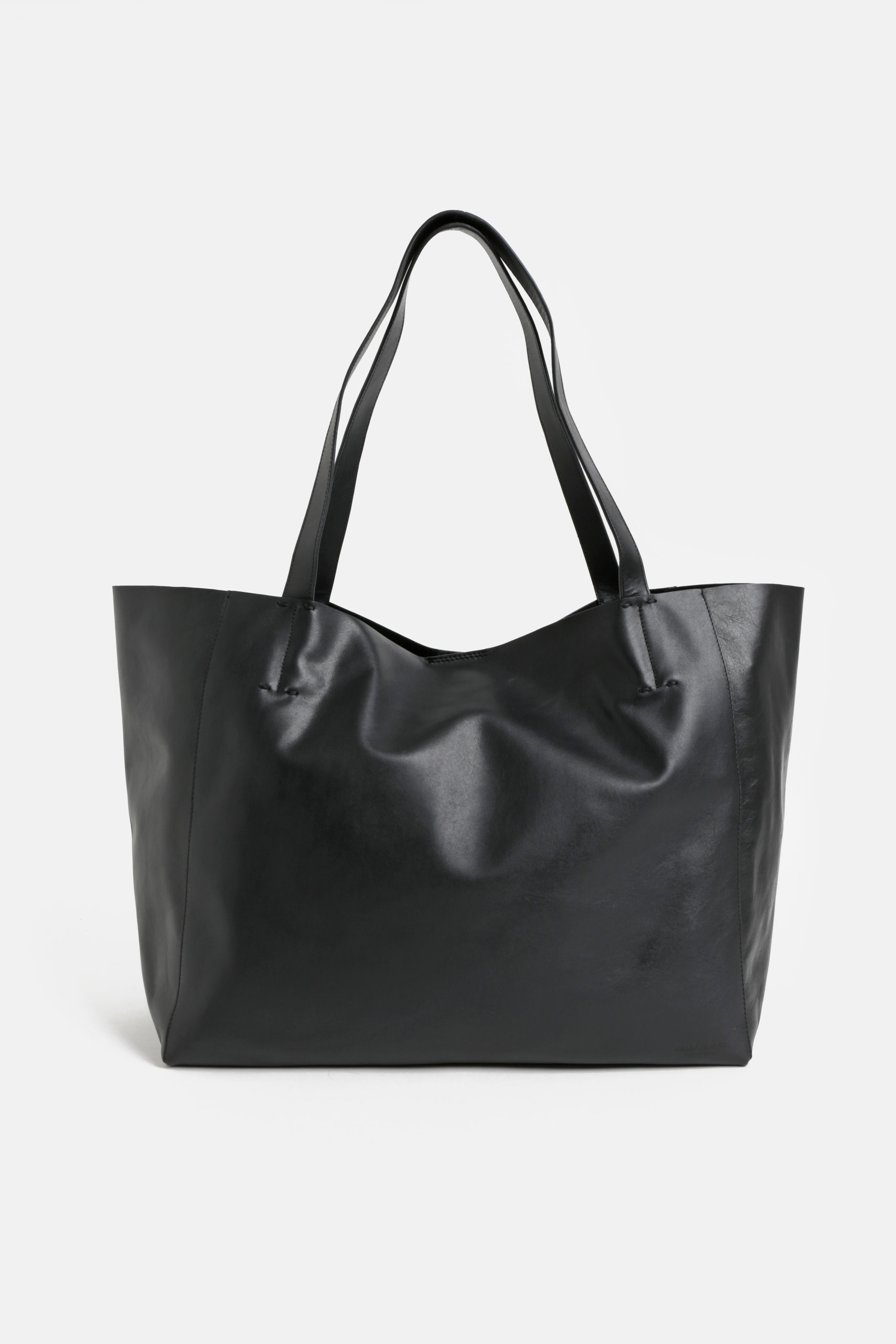 Černý kožený shopper Vagabond Gothenburg