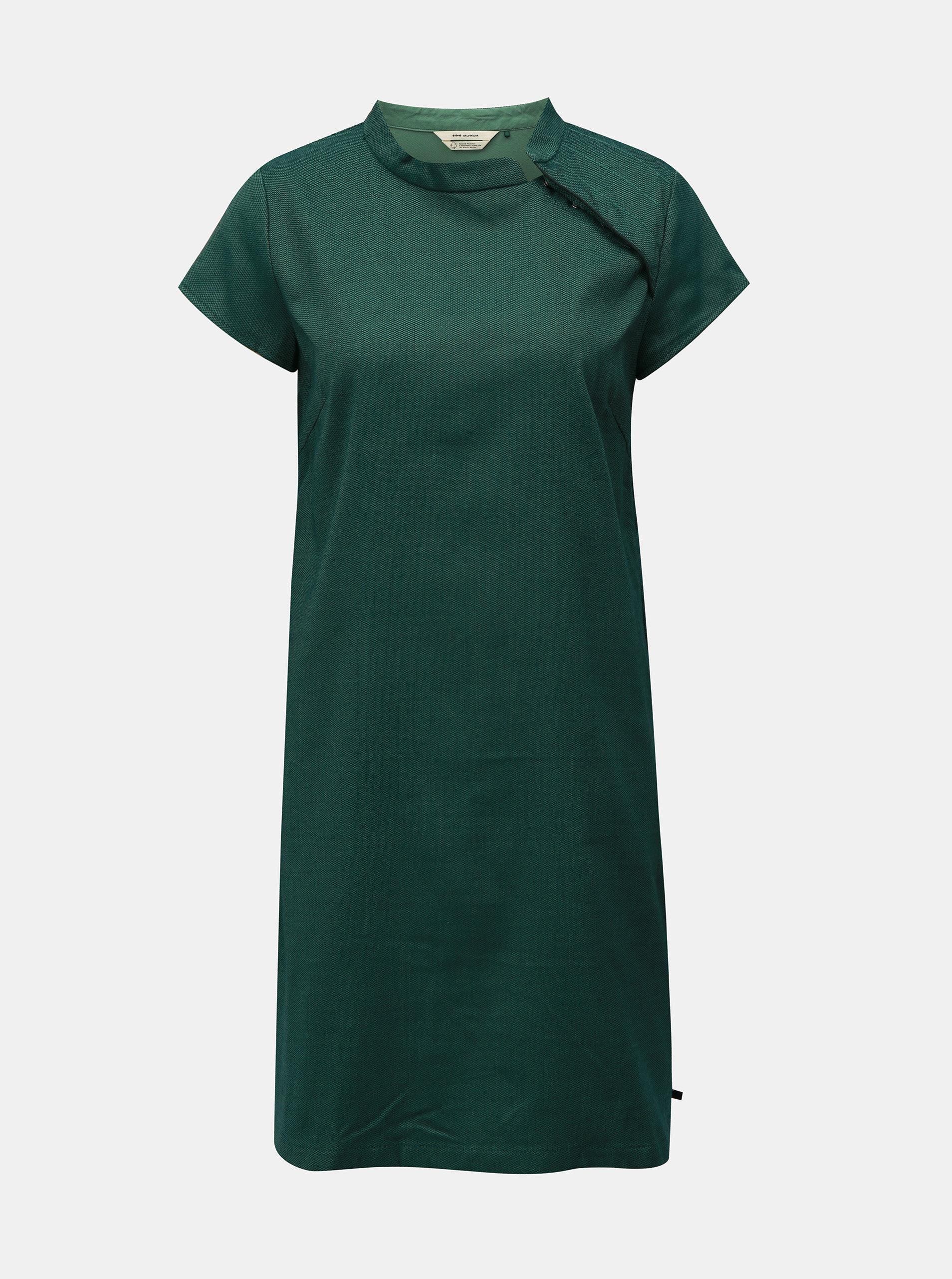 Zelené žíhané rovné šaty SKFK
