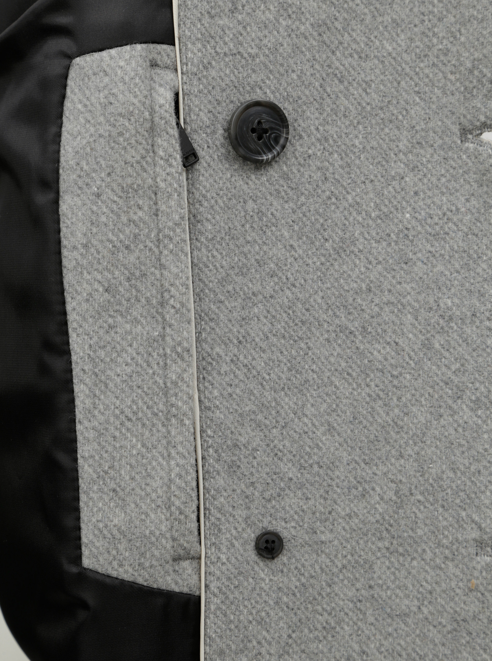 Sivý vlnený kabát Selected Homme ... 69550f85dc8