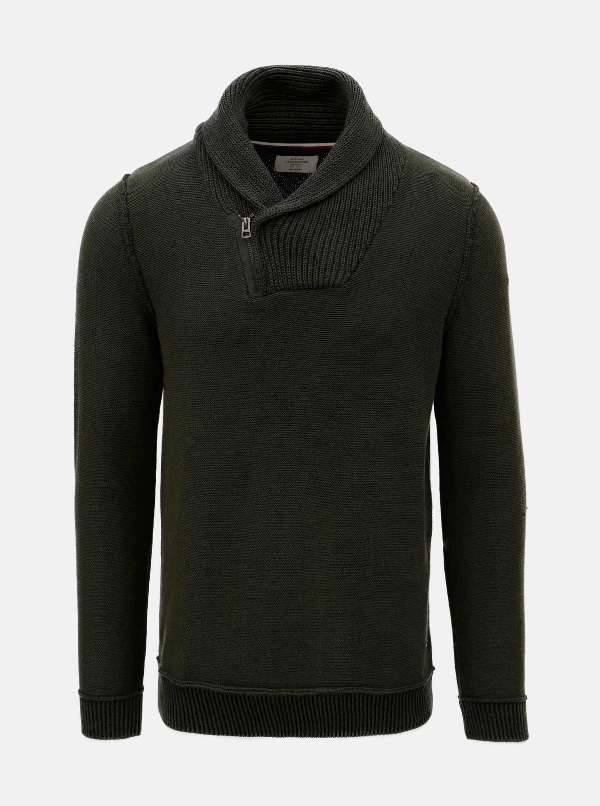 Zelený svetr s límcem Jack & Jones
