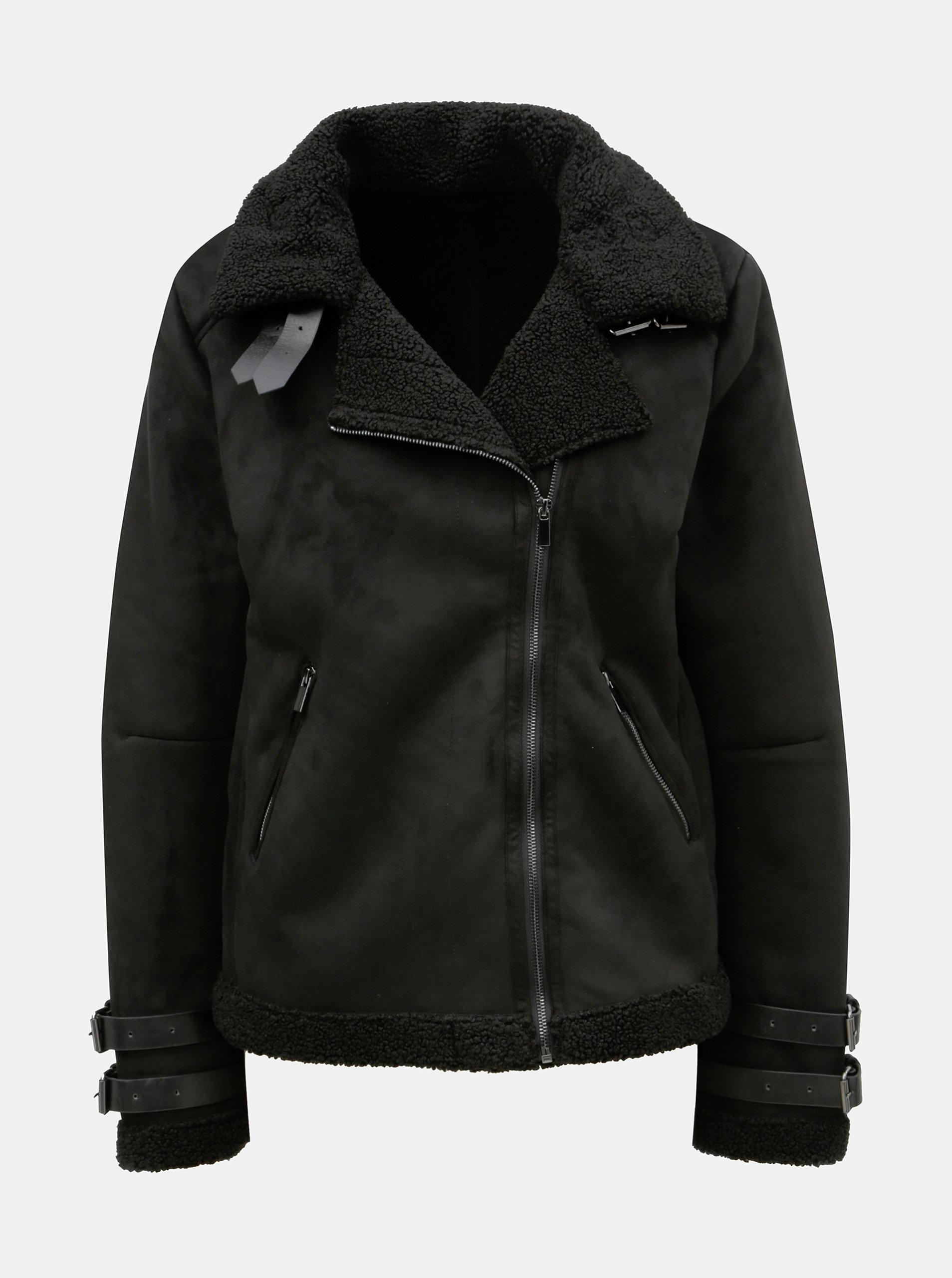 1f5dac2aaf0 Černá bunda v semišové úpravě VILA Black - Akční cena