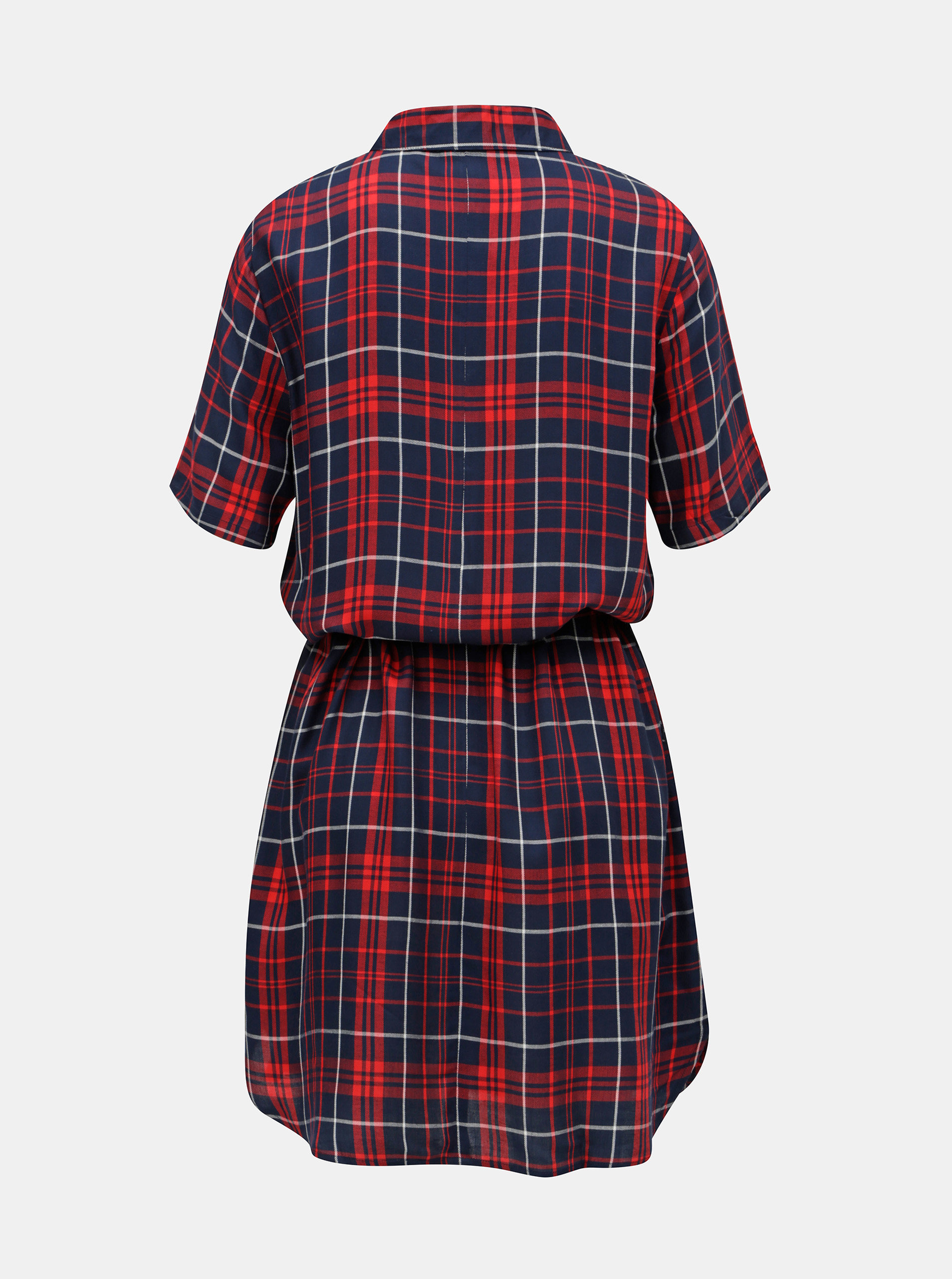 e87f8bb3f44 Červeno-modré košilové šaty s páskem Jacqueline de Yong Annabell ...
