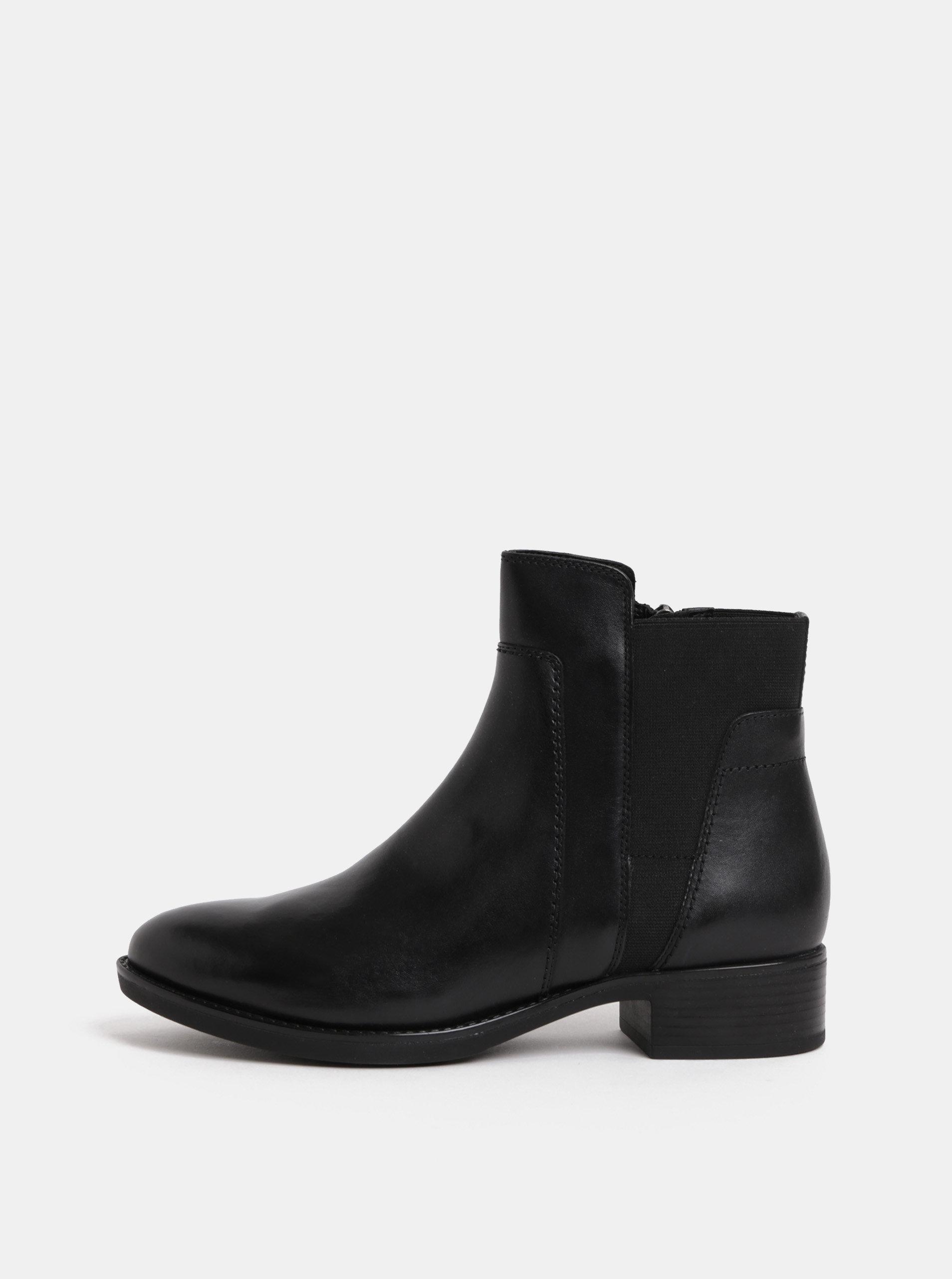 c3f896b2af56 Čierne dámske kožené chelsea topánky Geox Felicity ...