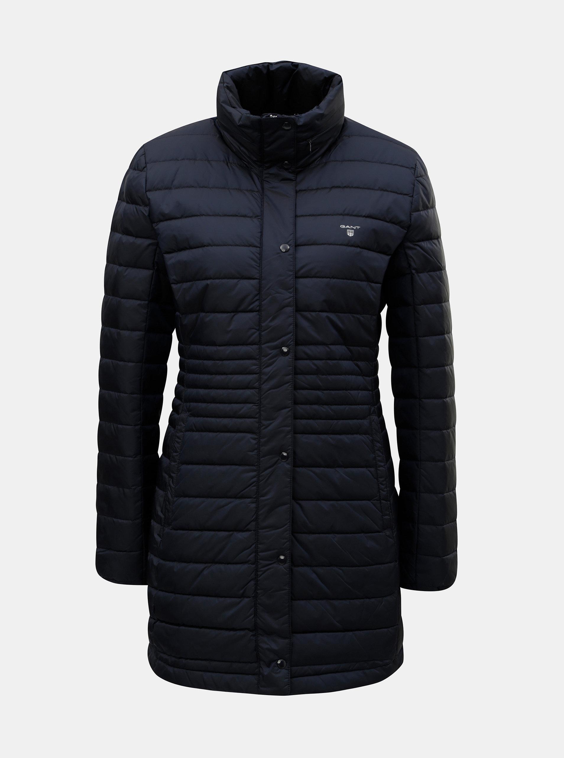 Tmavě modrý dámský péřový prošívaný kabát GANT ... fa4c062492d