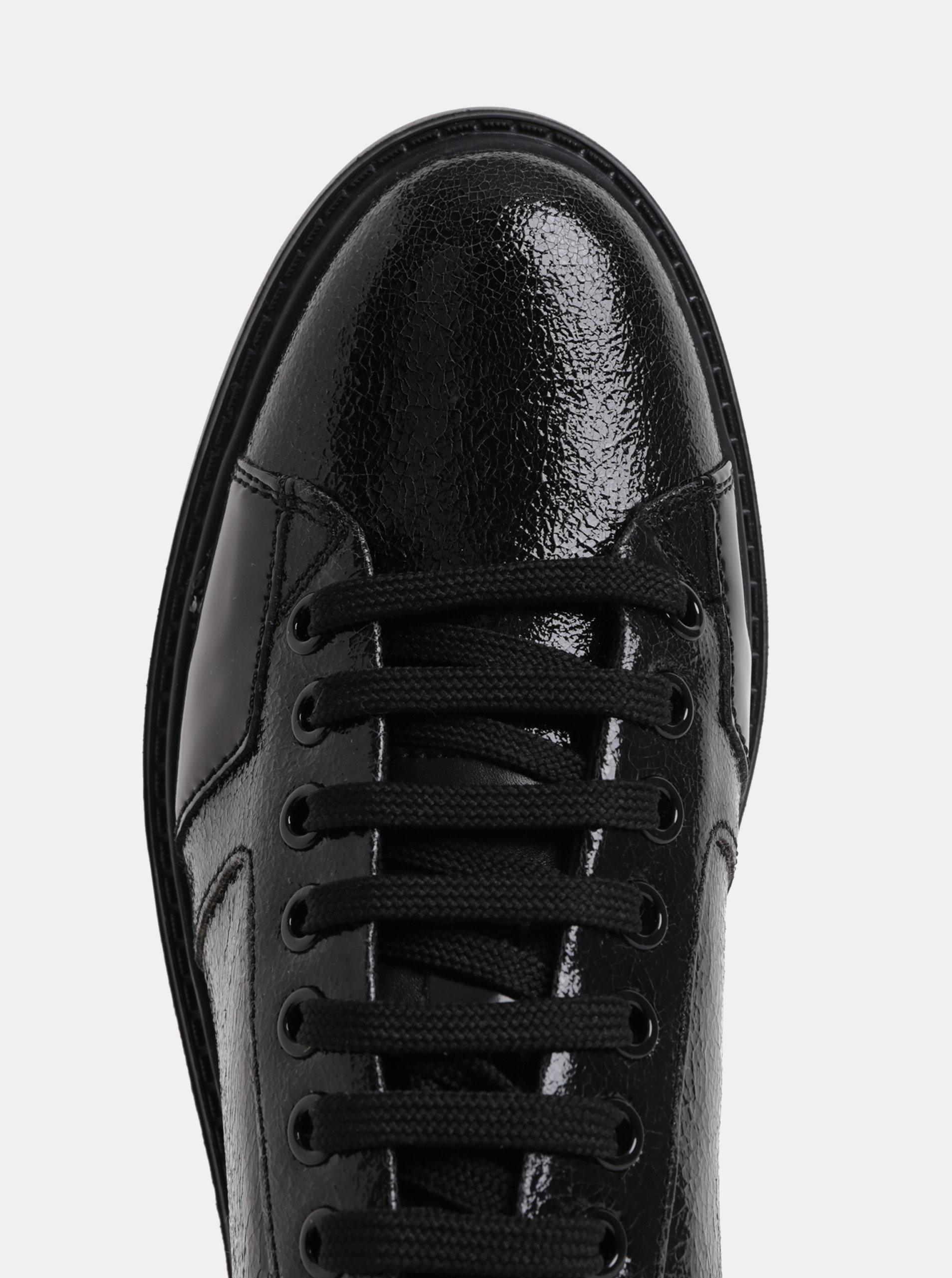 Černé dámské kožené tenisky Geox Thymare ... c263358012