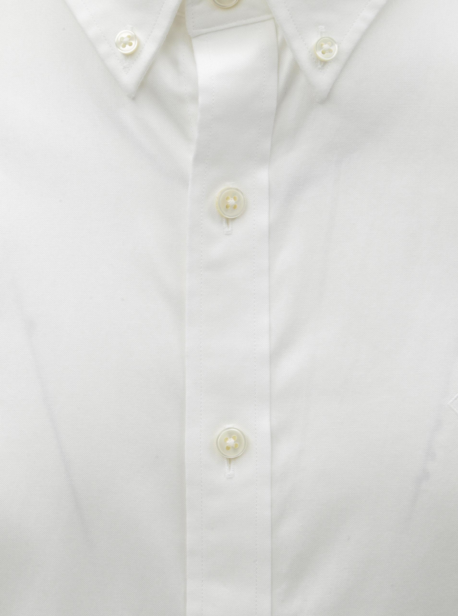 905218a05103 Biela pánska formálna slim fit košeľa GANT ...