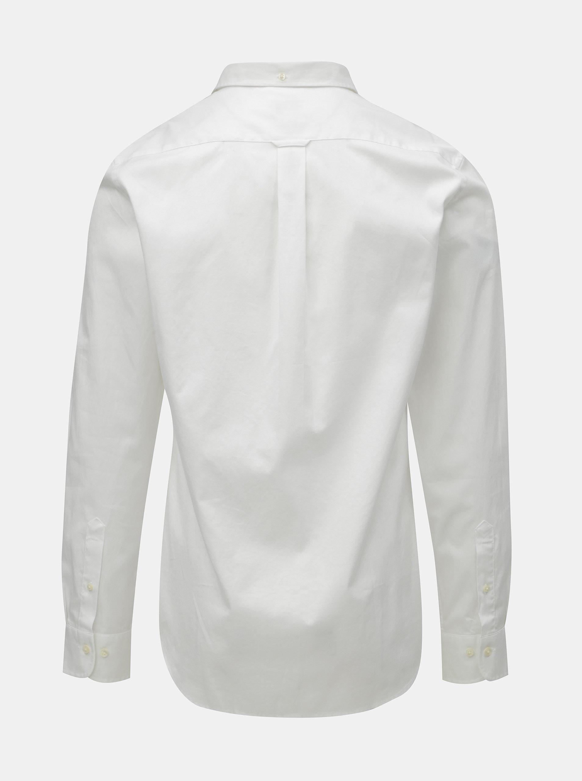 70289919b81c Biela pánska formálna slim fit košeľa GANT ...
