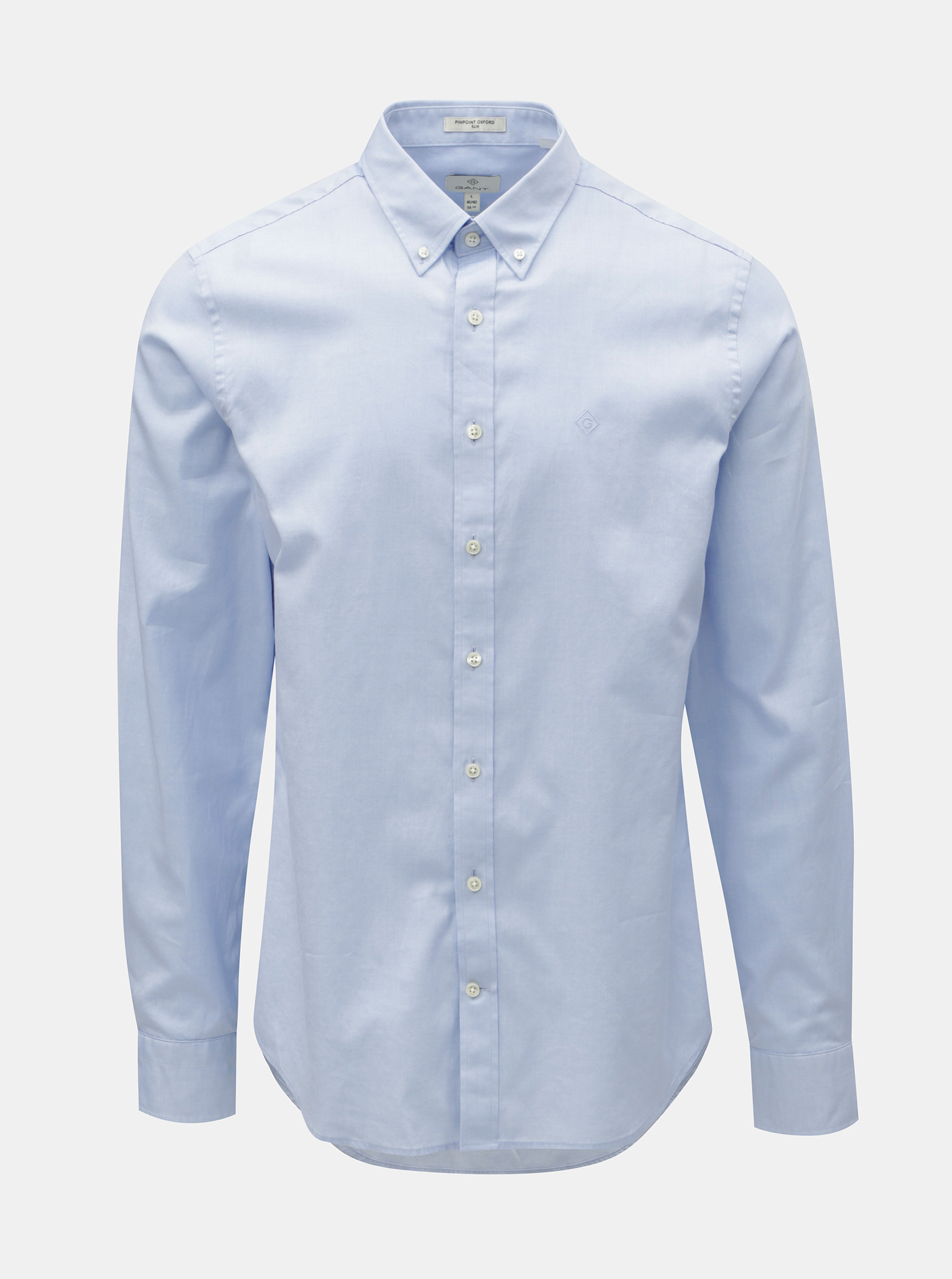f6c5126b5efa Svetlomodrá pánska formálna slim fit košeľa GANT ...