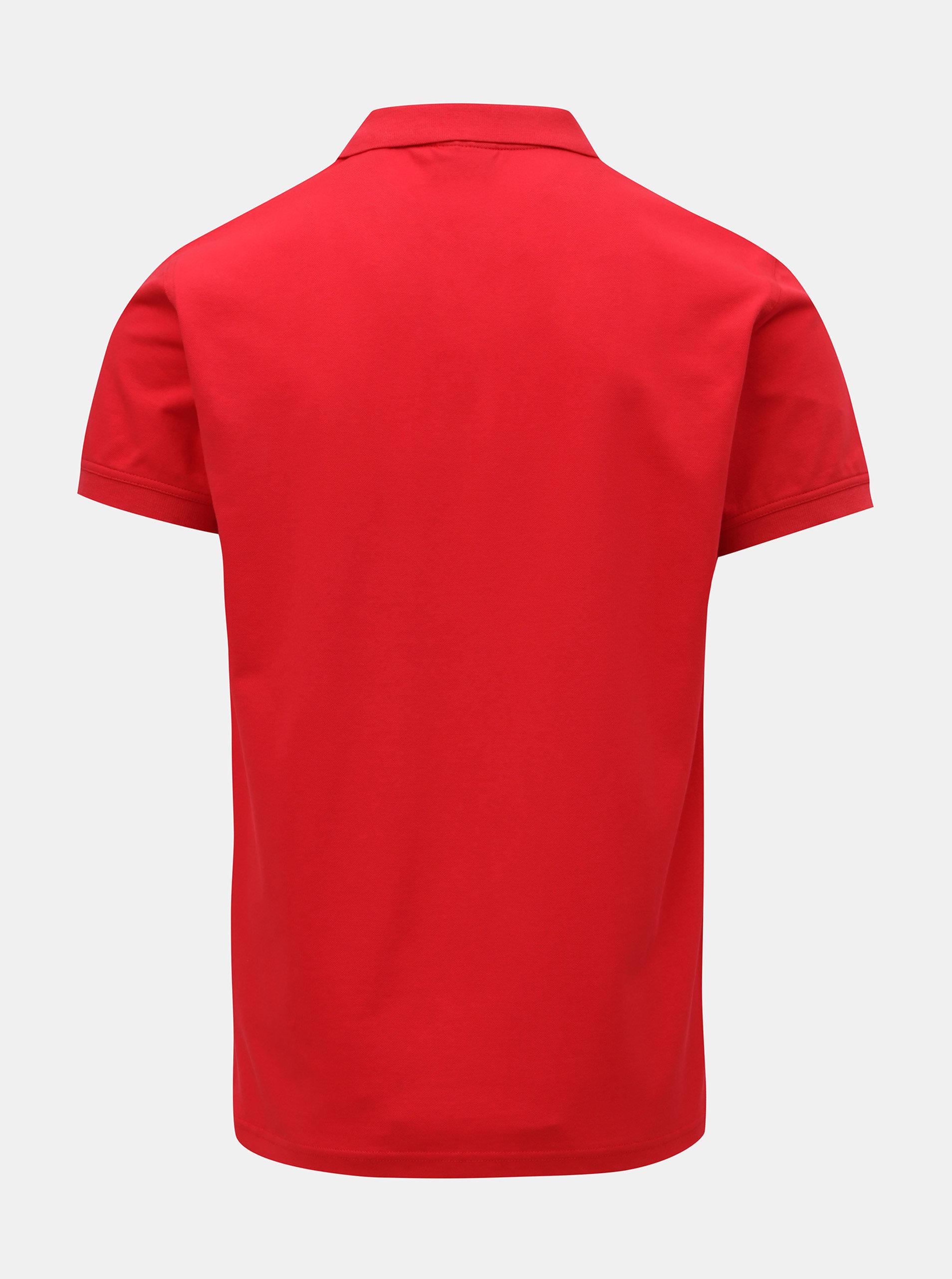 f2f0bbc31b18 Červené pánské polo tričko GANT ...