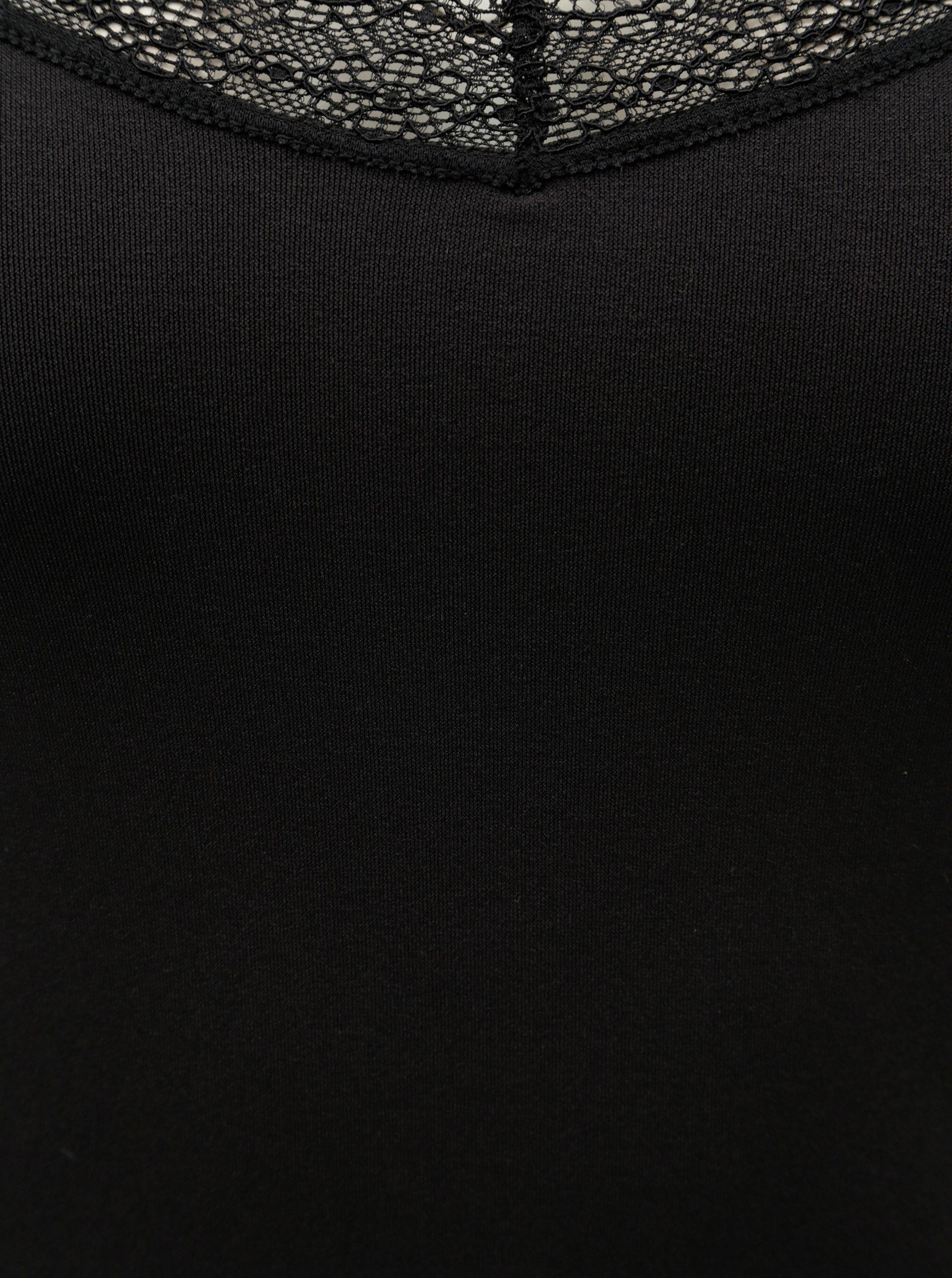 Černé tílko s krajkovým detailem VERO MODA Amelia