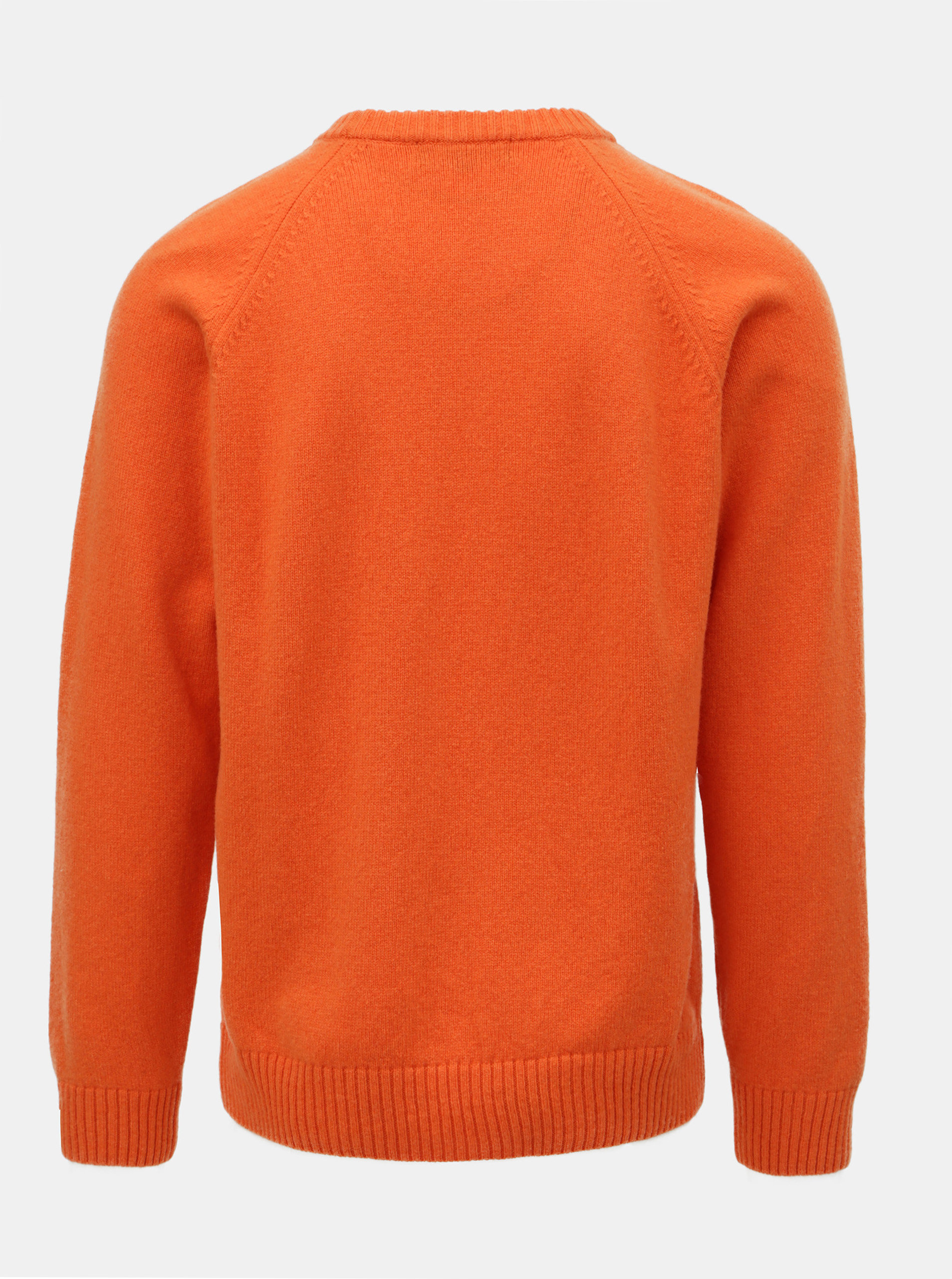 ccc3539eed26 Oranžový pánský svetr z Merino vlny Makia Nordic ...