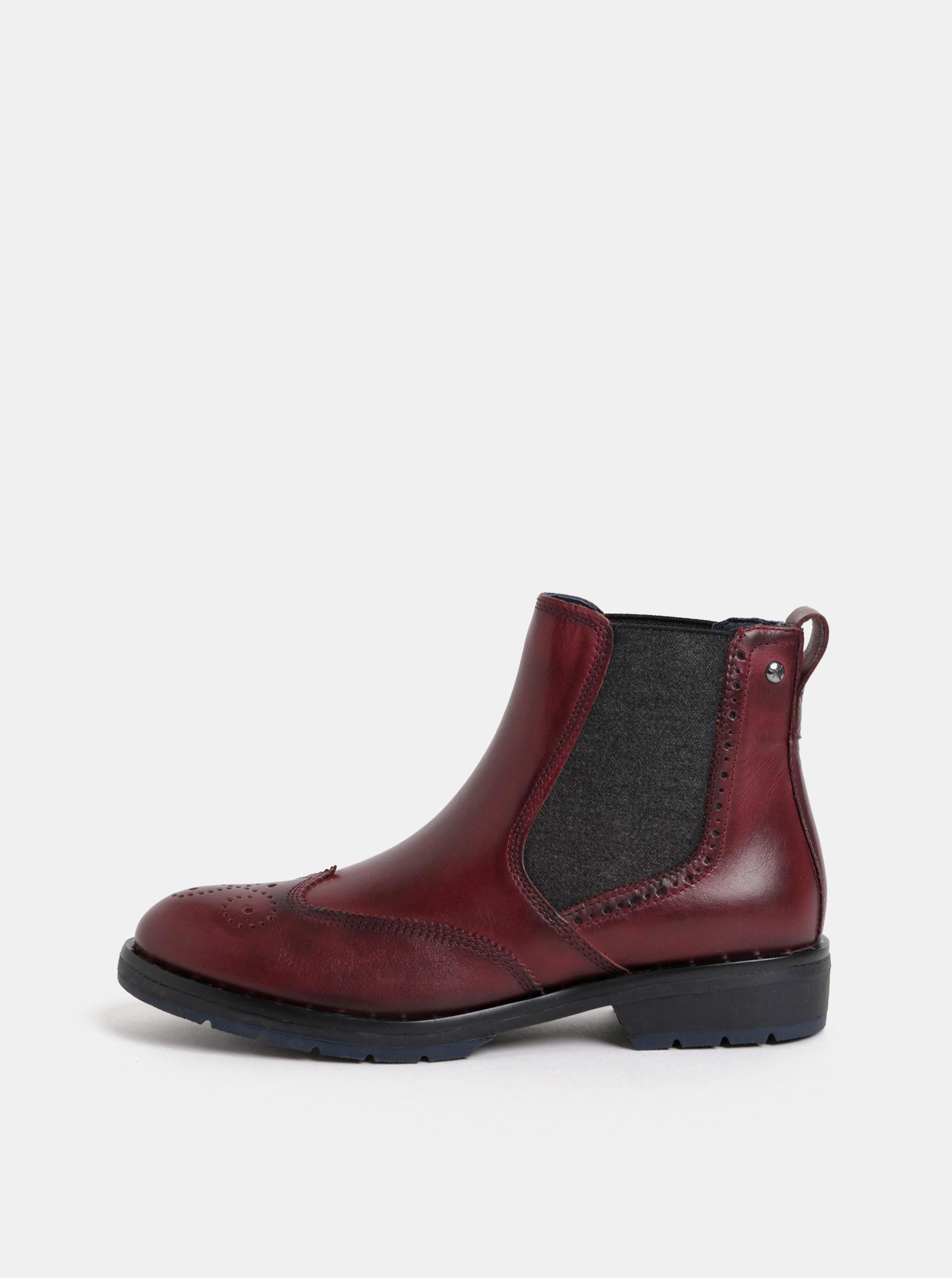 Vínové kožené chelsea boty  Pikolinos Garnet
