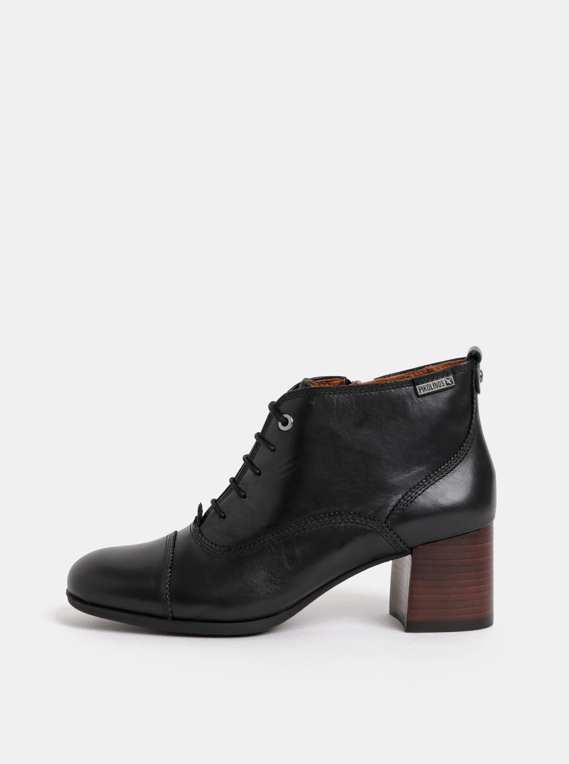 c3a670da5 Čierne kožené členkové topánky na podpätku Pikolinos Black | ZOOT.sk