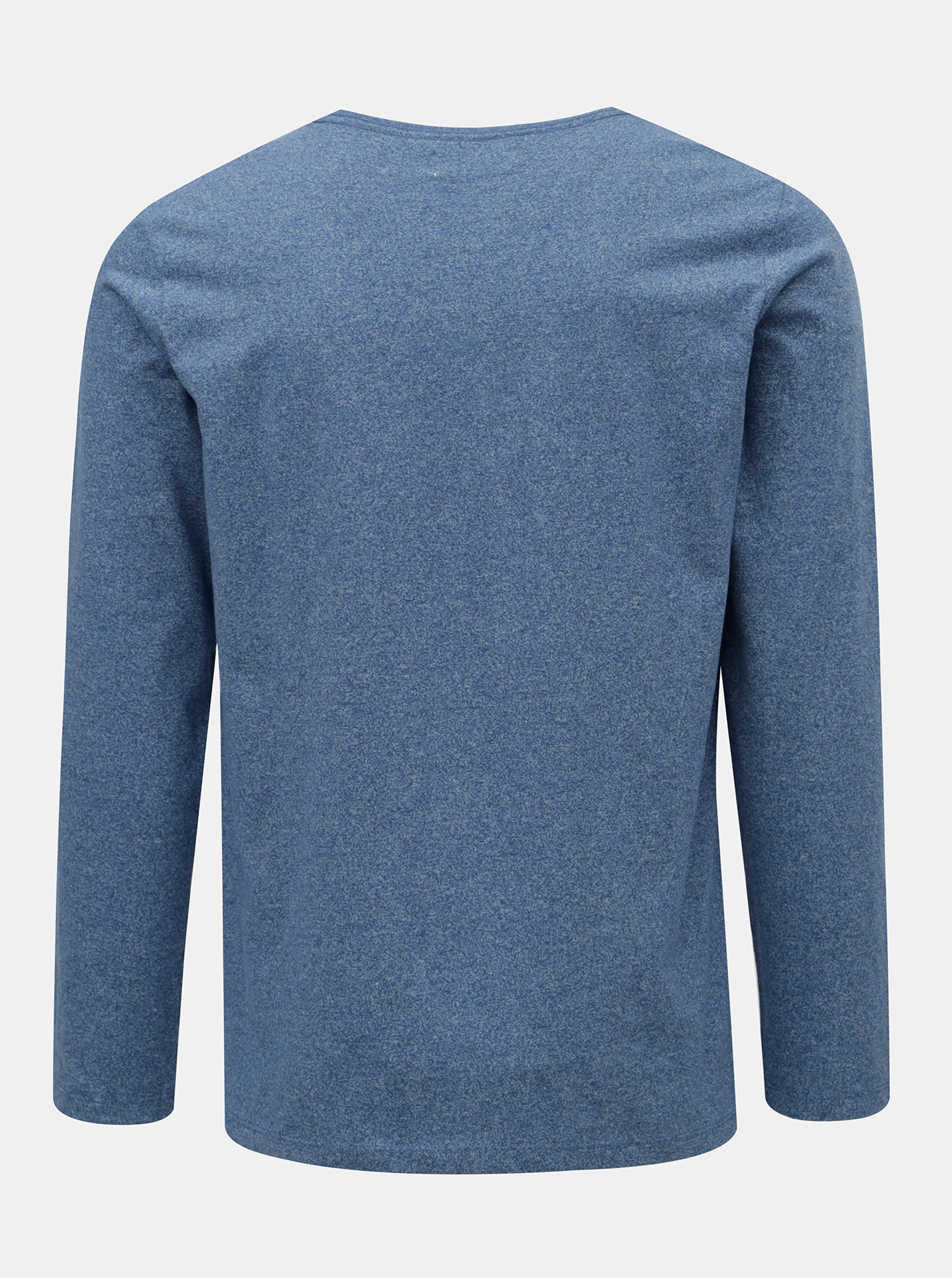 b4e3789b92 Modré melírované tričko s dlhým rukávom Lindbergh ...