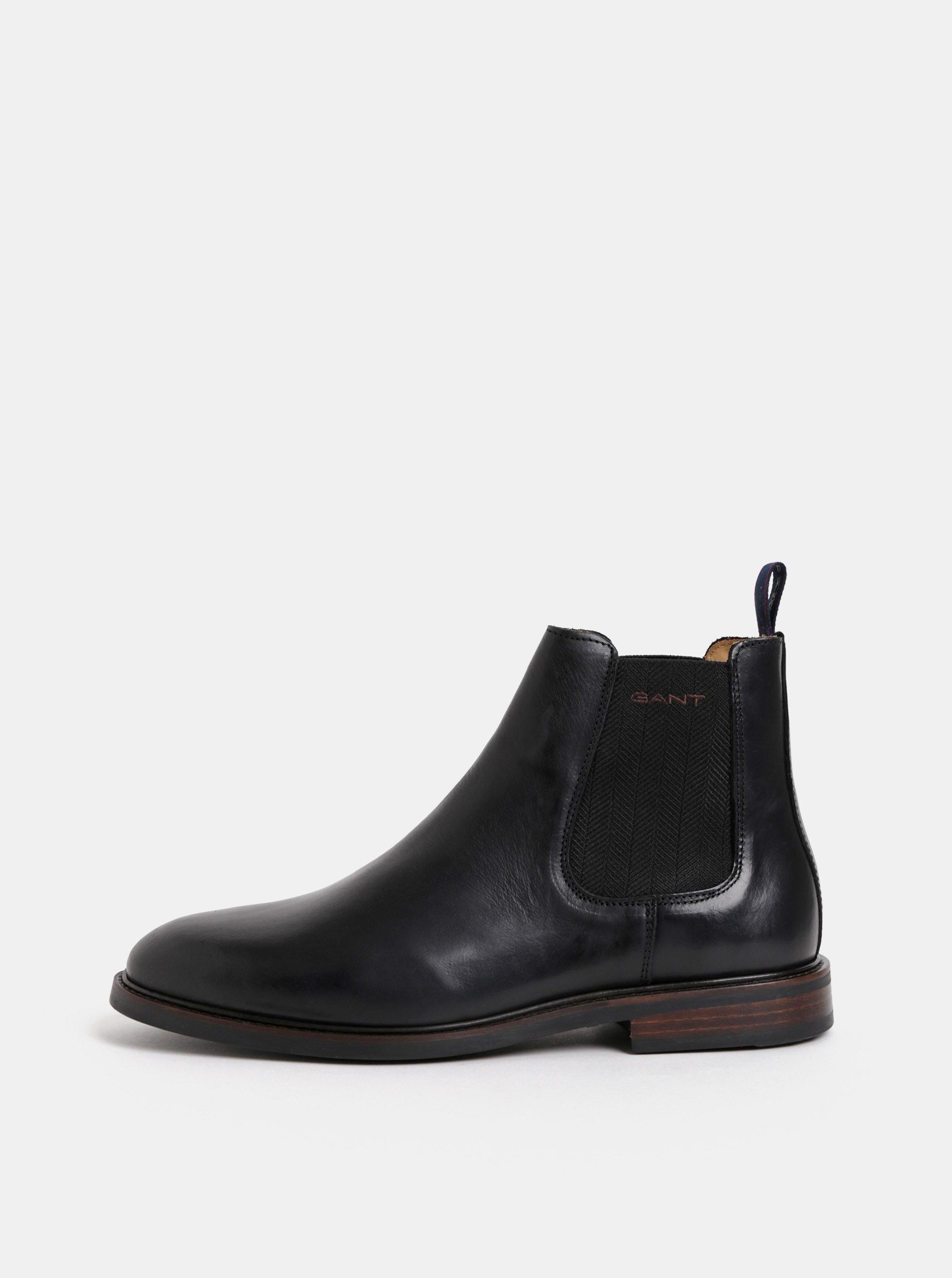 Černé pánské kožené chelsea boty GANT Ricardo ... 1cee8f4fe2