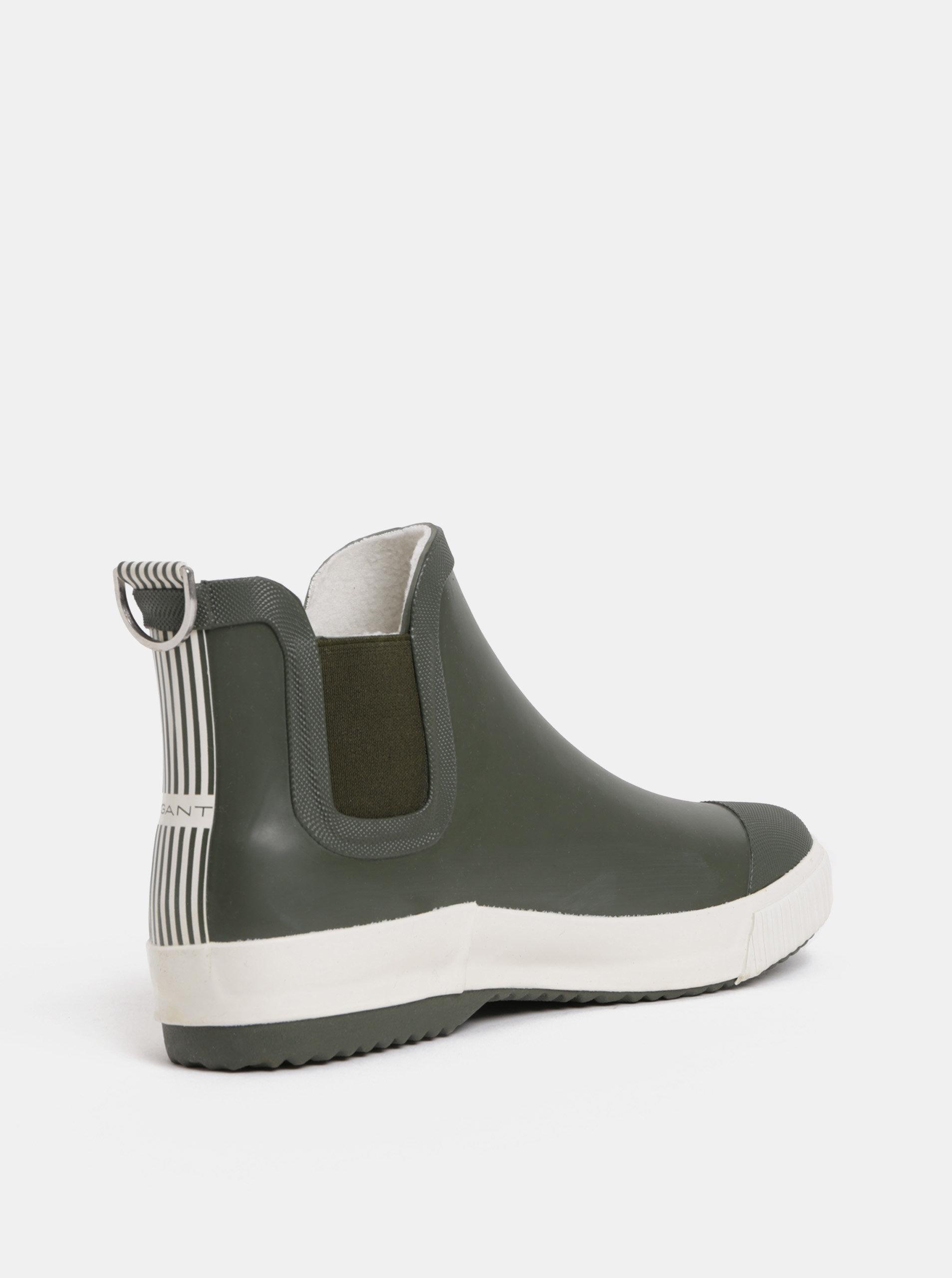 b0219b3e5 Kaki dámske gumové chelsea topánky GANT Mandy | ZOOT.sk